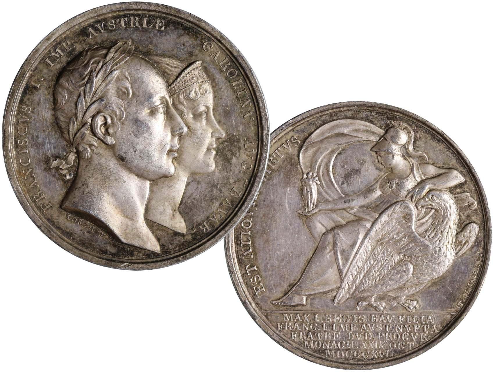 Osobnosti - František I. 1806-1835, AR medaile Charlotte Augusta z Bavorska, Mnichov 1816