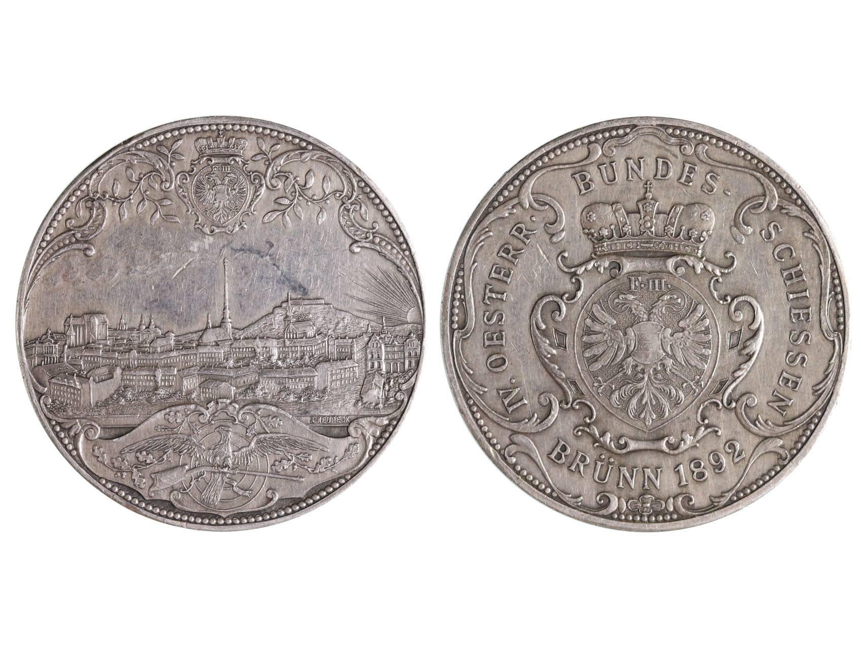 František Josef I., Ag medaile 1892, IV. rakouská spolková střelecká soutěž v Brně