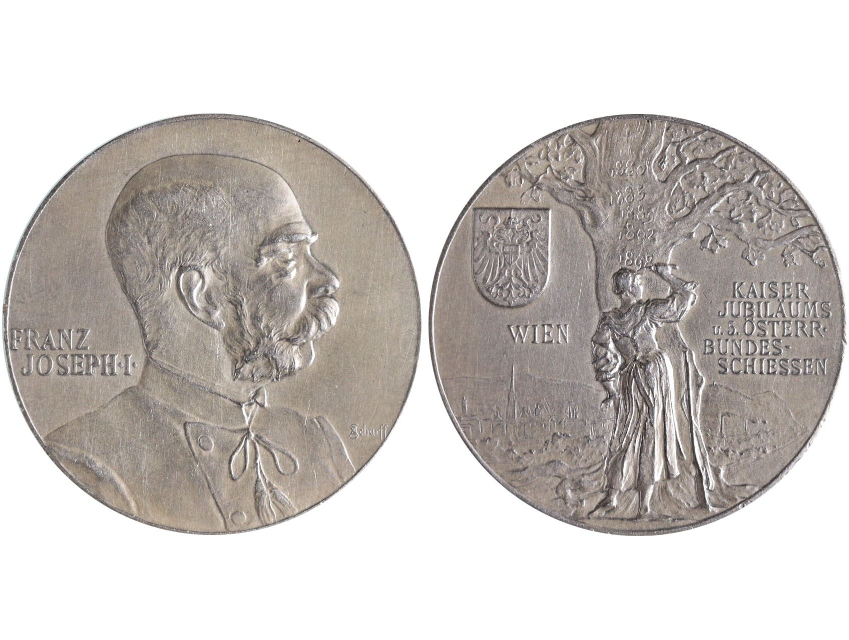 František Josef I., Ag medaile 1898, V. rakouská spolková střelecká soutěž ve Vídni - 50. výročí vlády Františka Josefa I.
