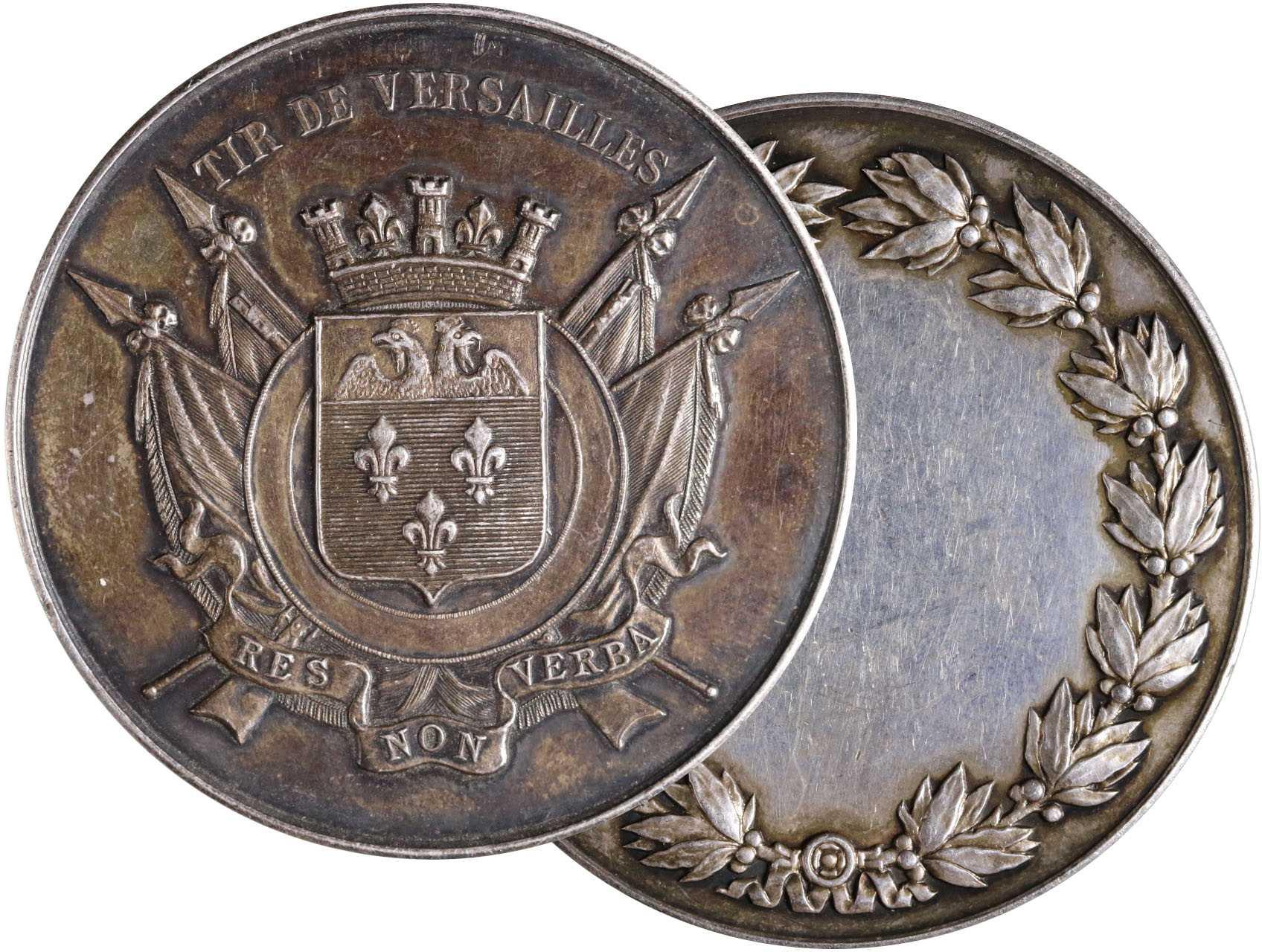 Francie, Ag střelecká medaile 1900 Tir de Versailles, neudělená,