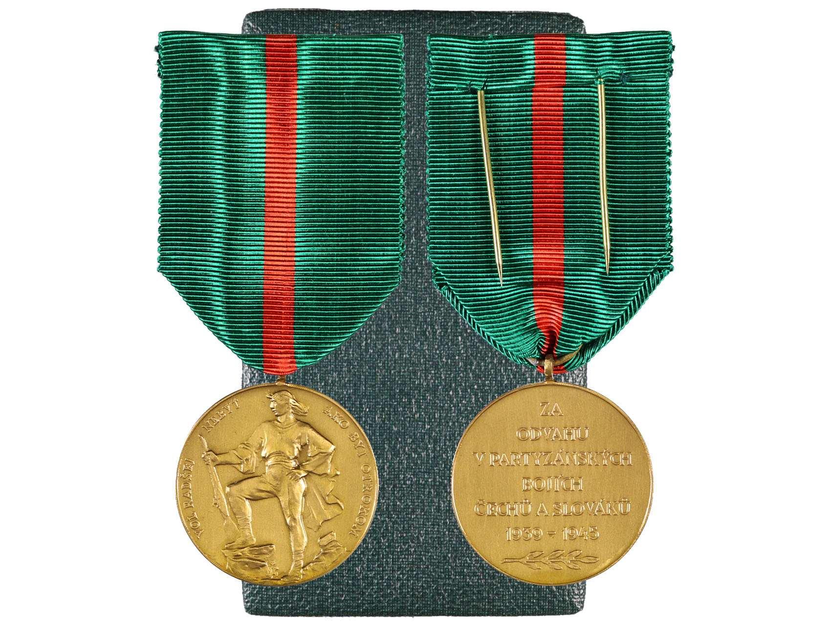 Československá Jánošíkova medaile, původní etue, VM21, N36