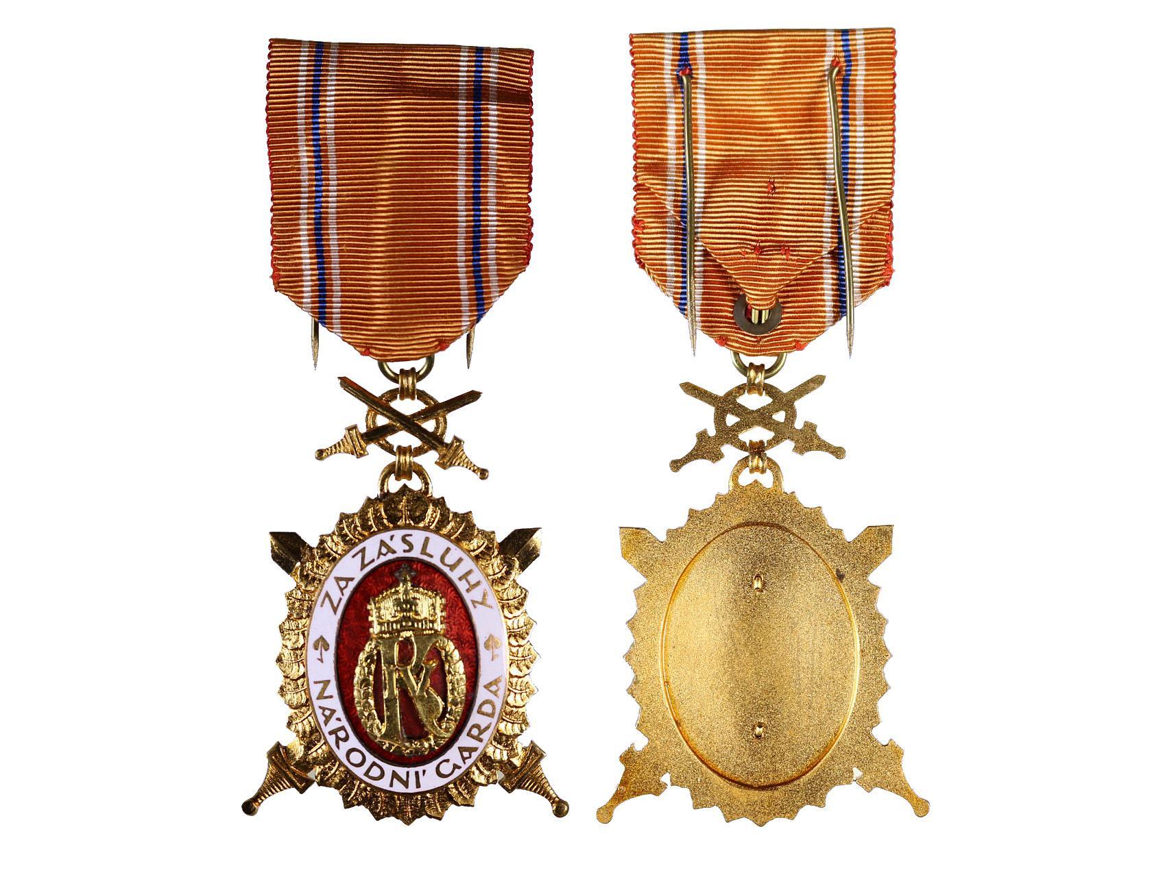 Diplomový čestný odznak krále Karla IV., II. stupeň, 1. třída, typ 1937-1939, N93A
