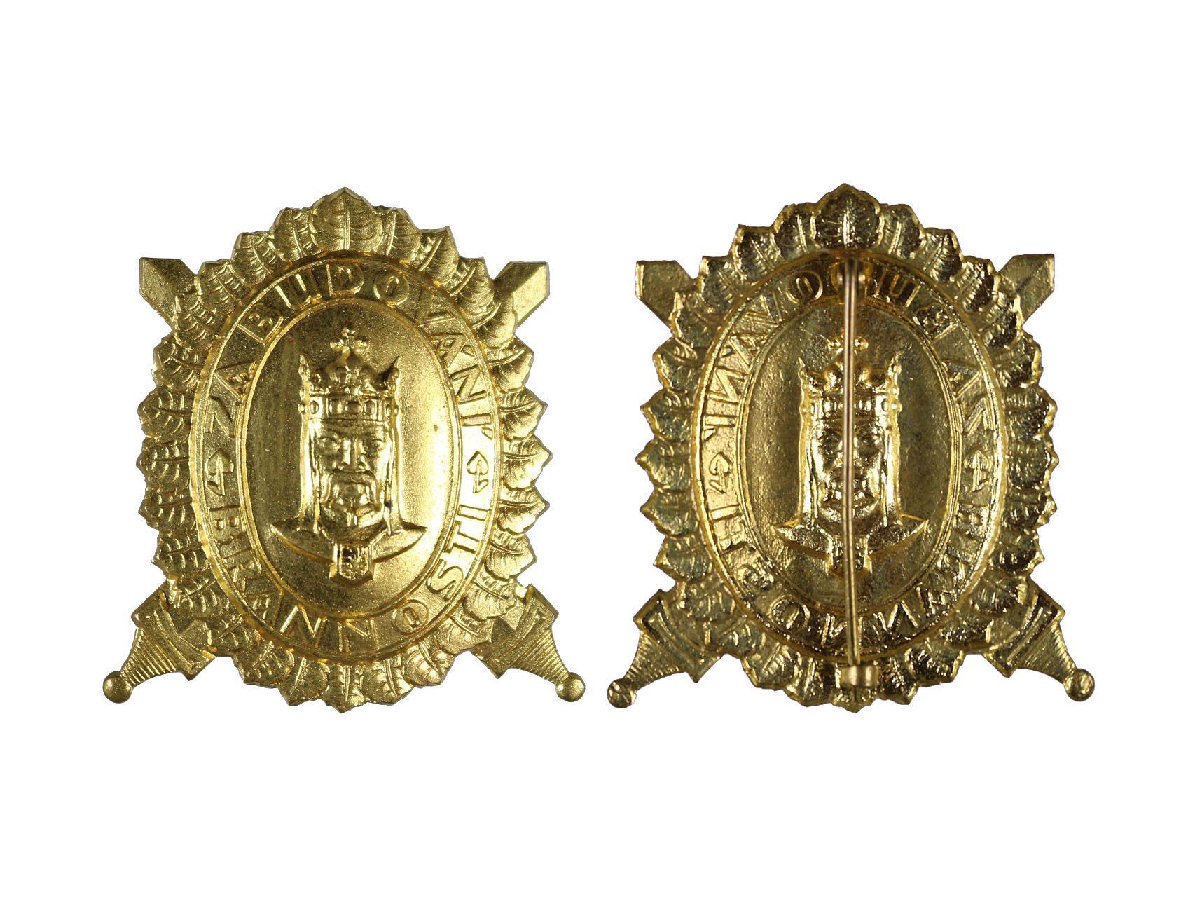 DOK, Čestný odznak, Za budování brannosti, 1. třída, zlatý, N97