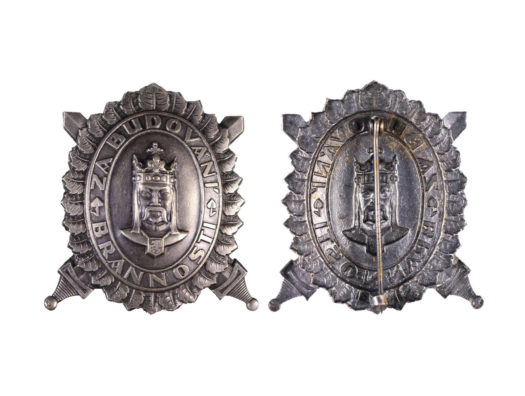 DOK, Čestný odznak, Za budování brannosti, 2. třída, stříbrný, N97