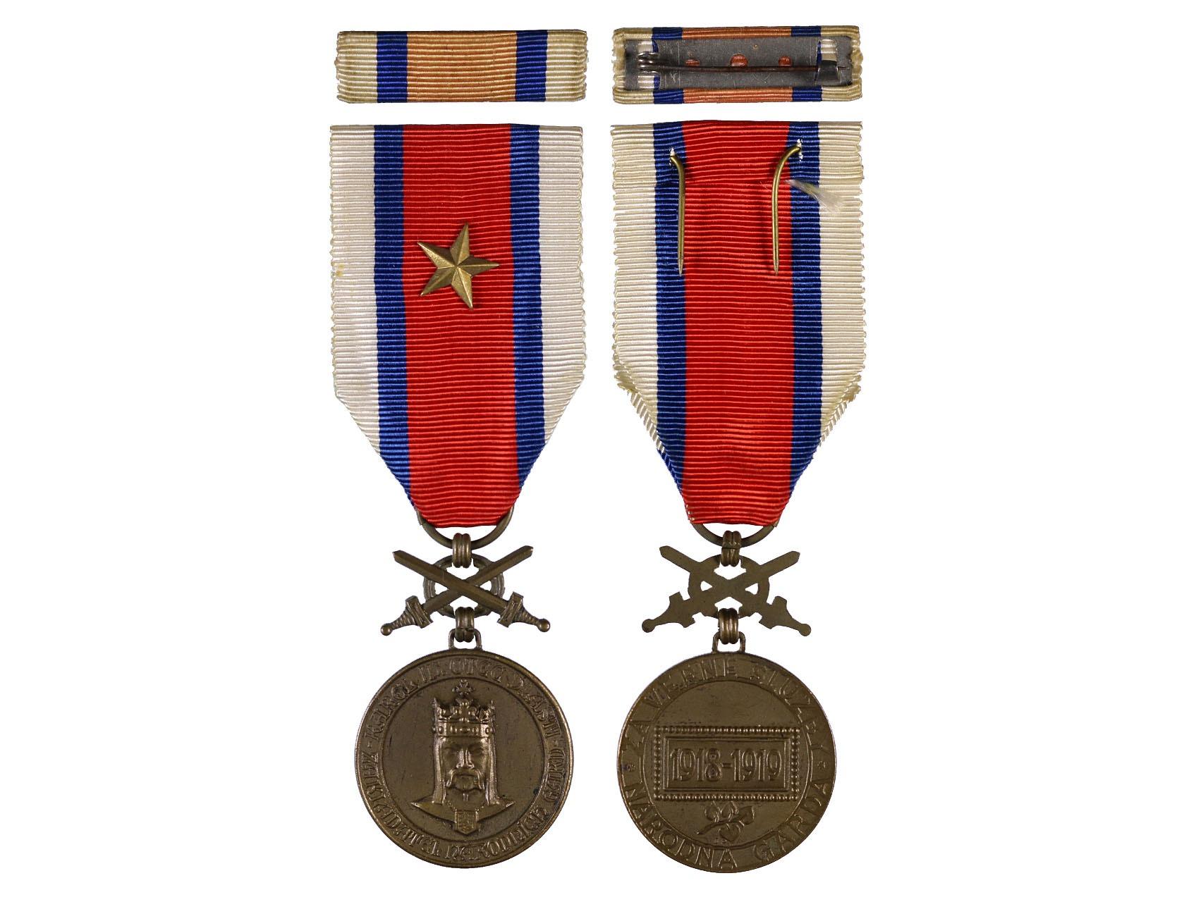Bronzová Pamětní medaileDOK, Za věrné služby, 1918-1919, N99.2a