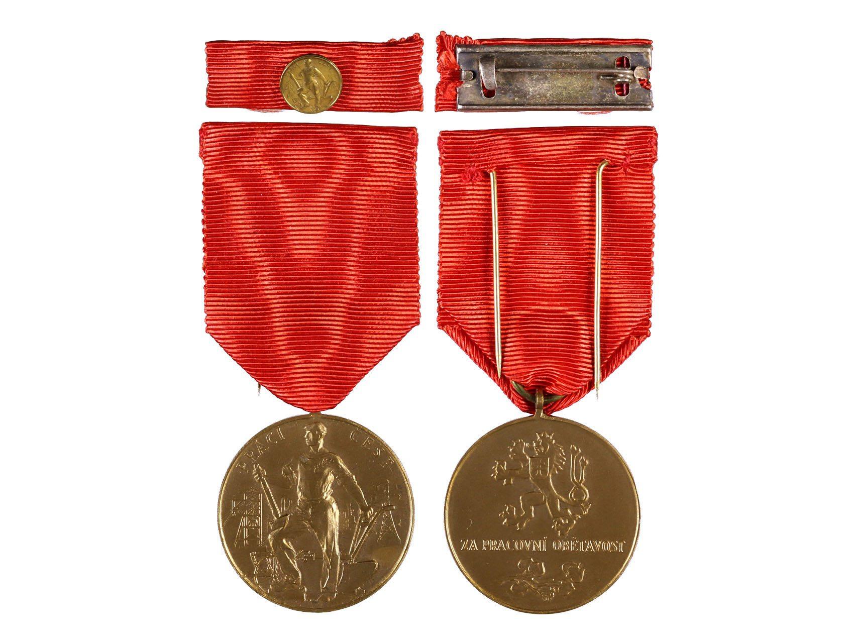 Bronzová medaile Za pracovní obětavost, ministužka, VM27B, N114
