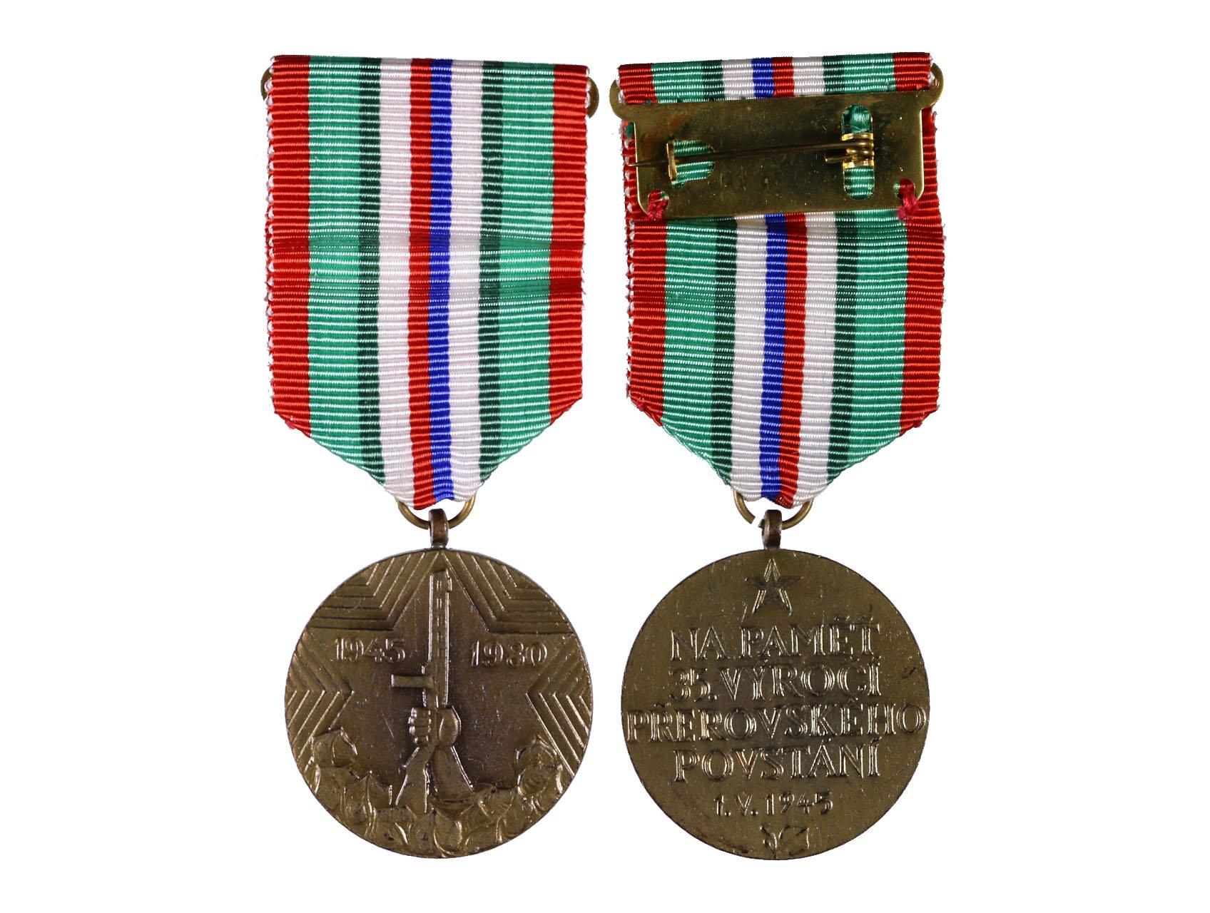 Pamětní medaile I. partyzánské brigády Jana Žižky z Trocnova , Přerovské povstání, VM 133a