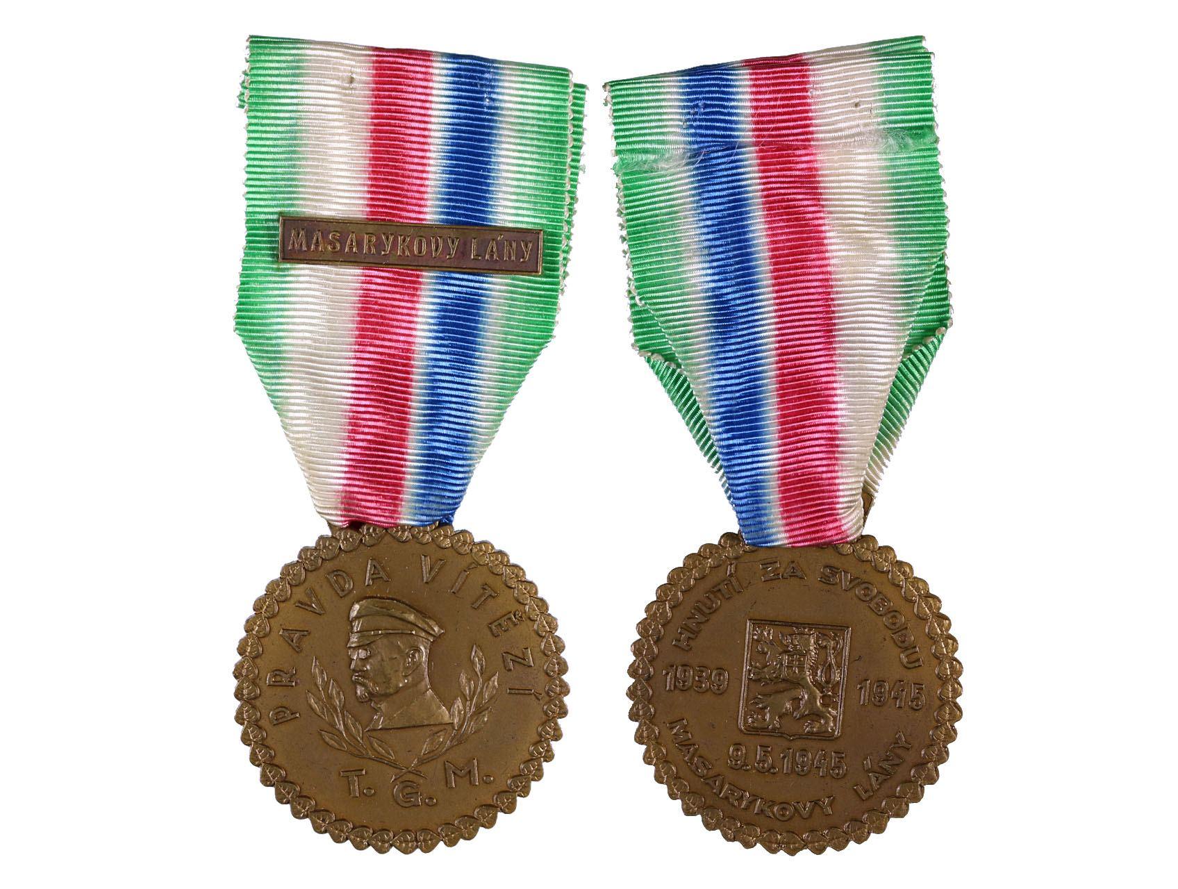 Pamětní medaile odbojové skupiny - Masarykovy Lány, VM 192a