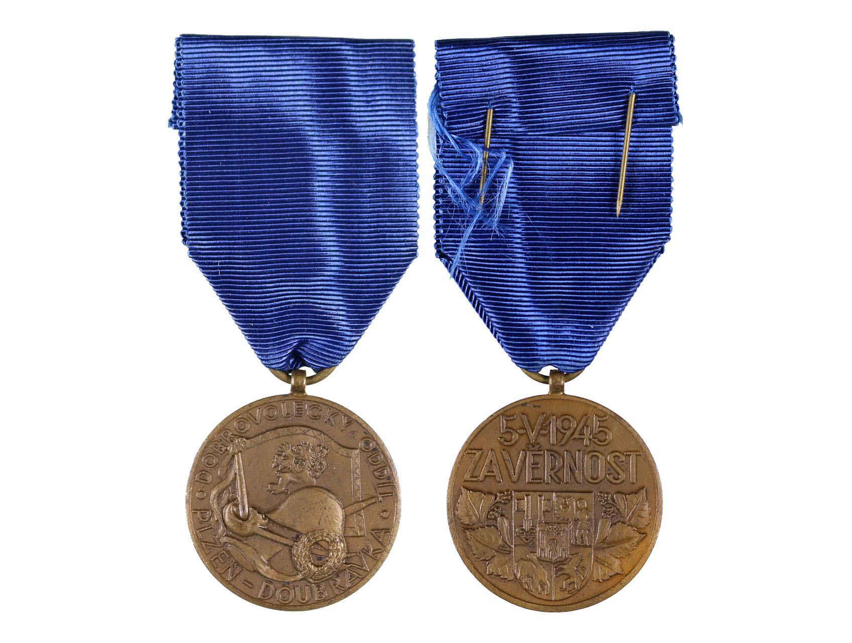 Pamětní medaile odbojové skupiny Doubravka, VM 201