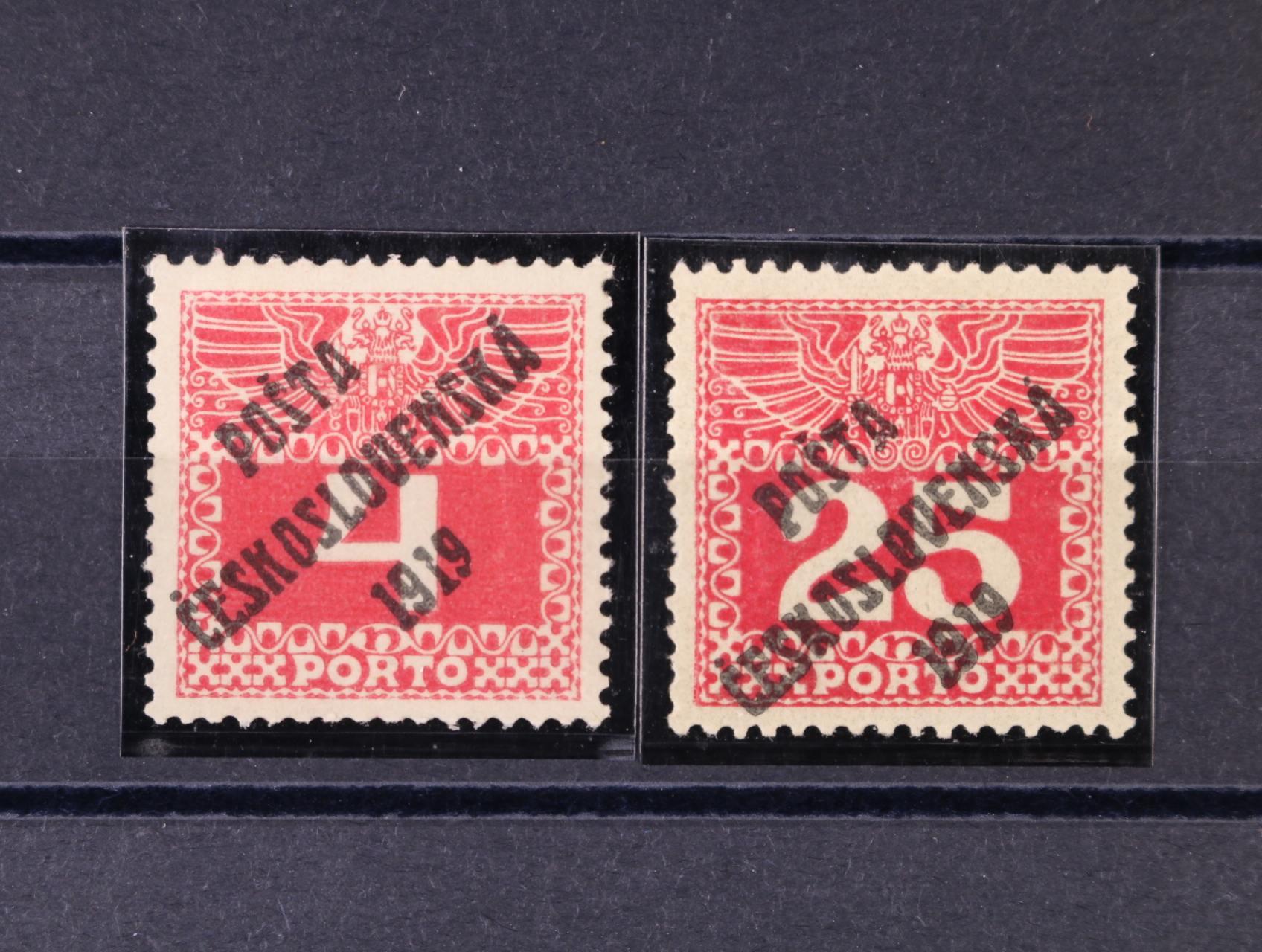 zn. č. 66, typ II, 69, typ III, zk. Gilbert, kat. cena 2000 Kč