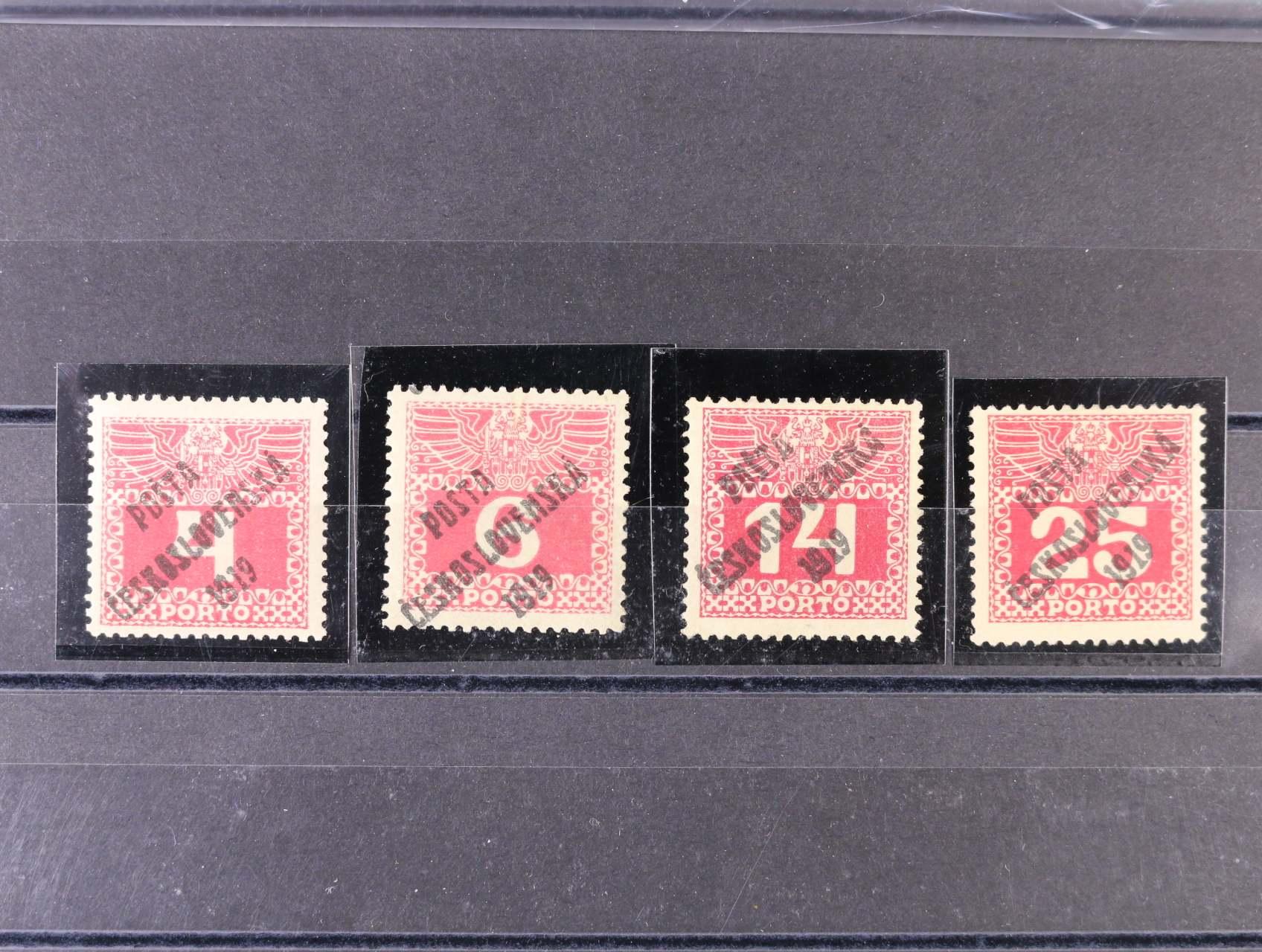 zn. č. 66 - 69, zk. Gilbert, Karásek, Mrňák, kat. cena 4100 Kč
