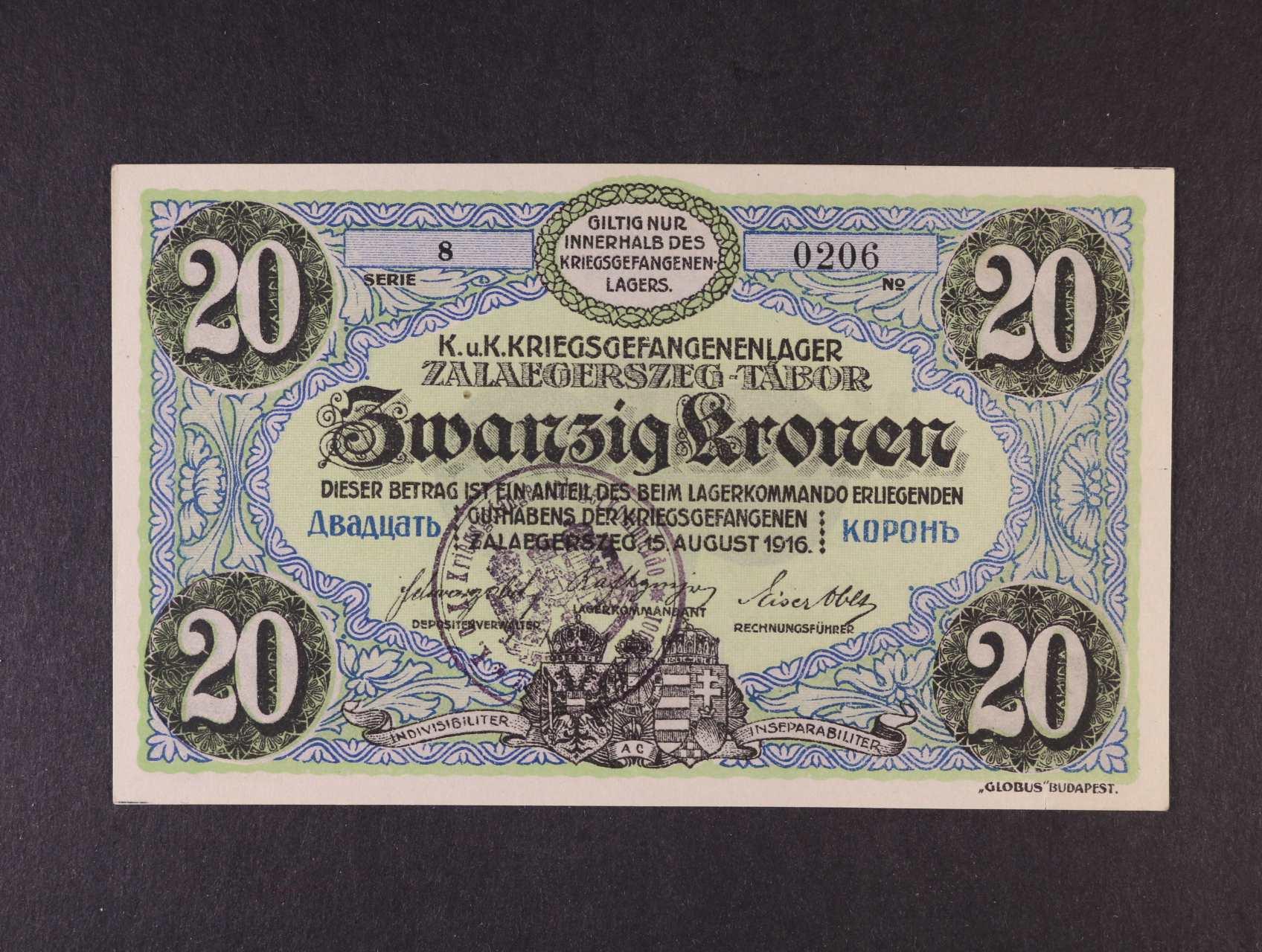 Zalaegerszeg (Maďarsko), 20 K 15.8.1916 s raz., Ri. 53.II.h1