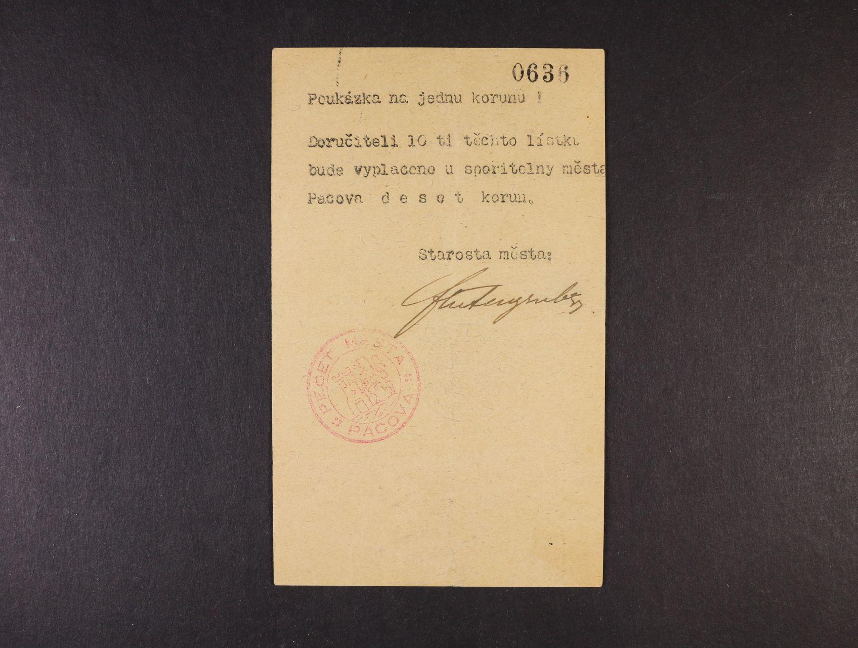Pacov, 1 K b.l. (1914) Spořitelna, D.H. 156.1.3a