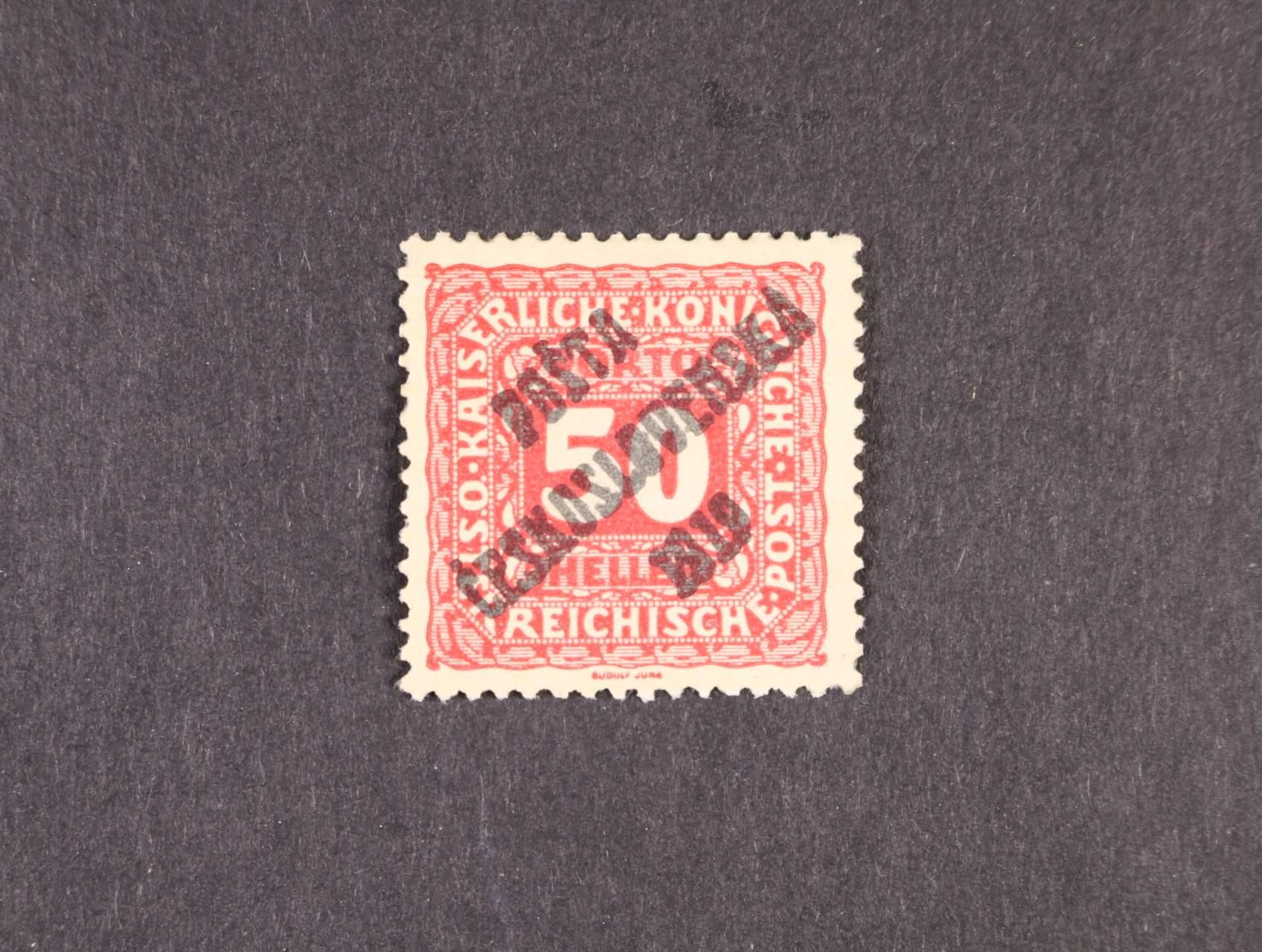 zn. č. 79 s přetiskem II. typu, zk. Lešetický, Karásek