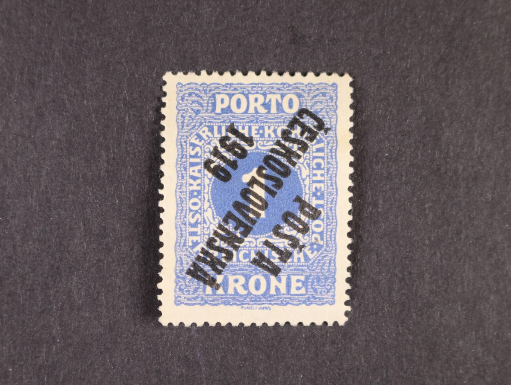 zn. č. 80 Pp 1K převrácený přetisk, typ II, zk. Gilbert, Franěk, Tribuna, atest Stupka