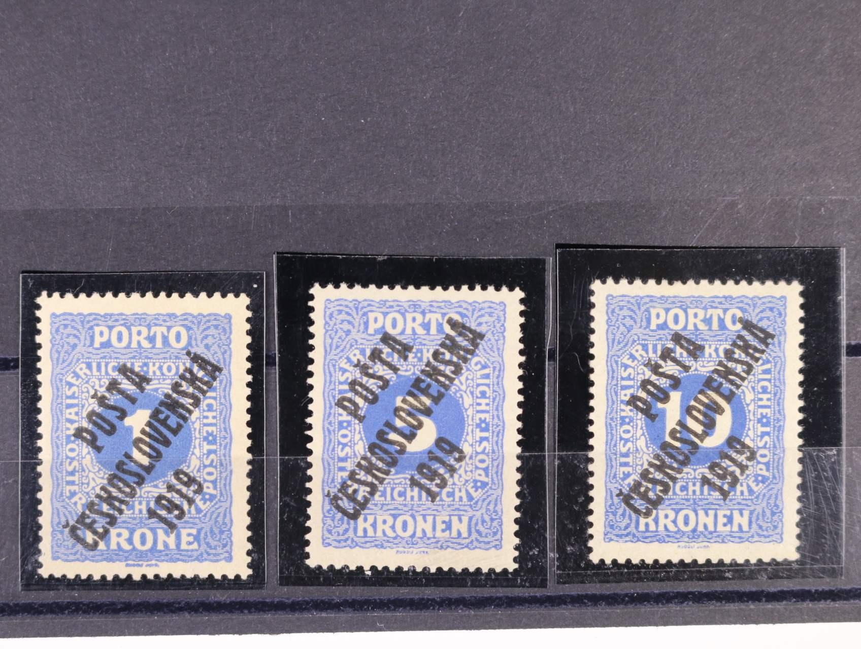 zn. č. 80 - 82, zk.Mahr, Karásek, kat. cena cca 13500 Kč