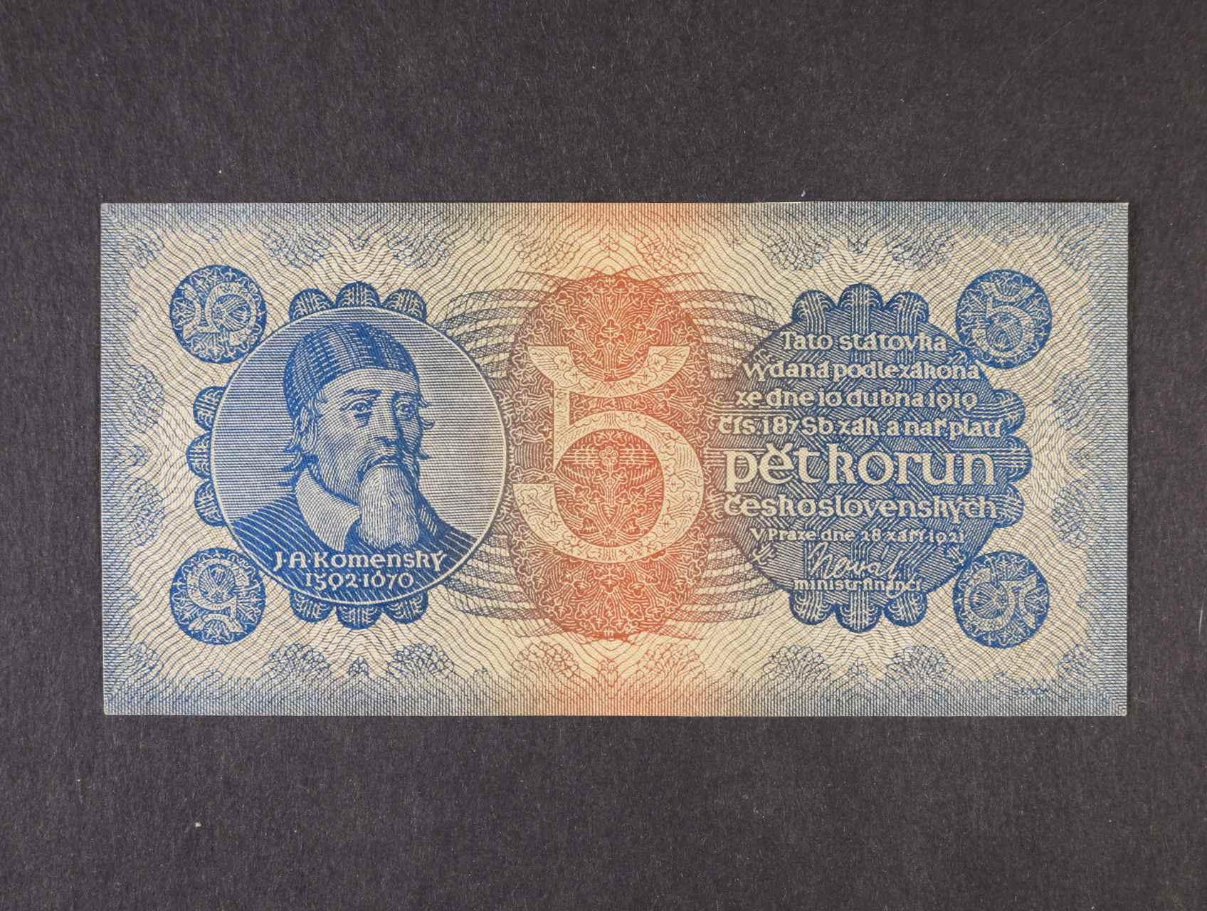 5 Kč 28.9.1921 série 2, Ba. 18,  Pi. 15