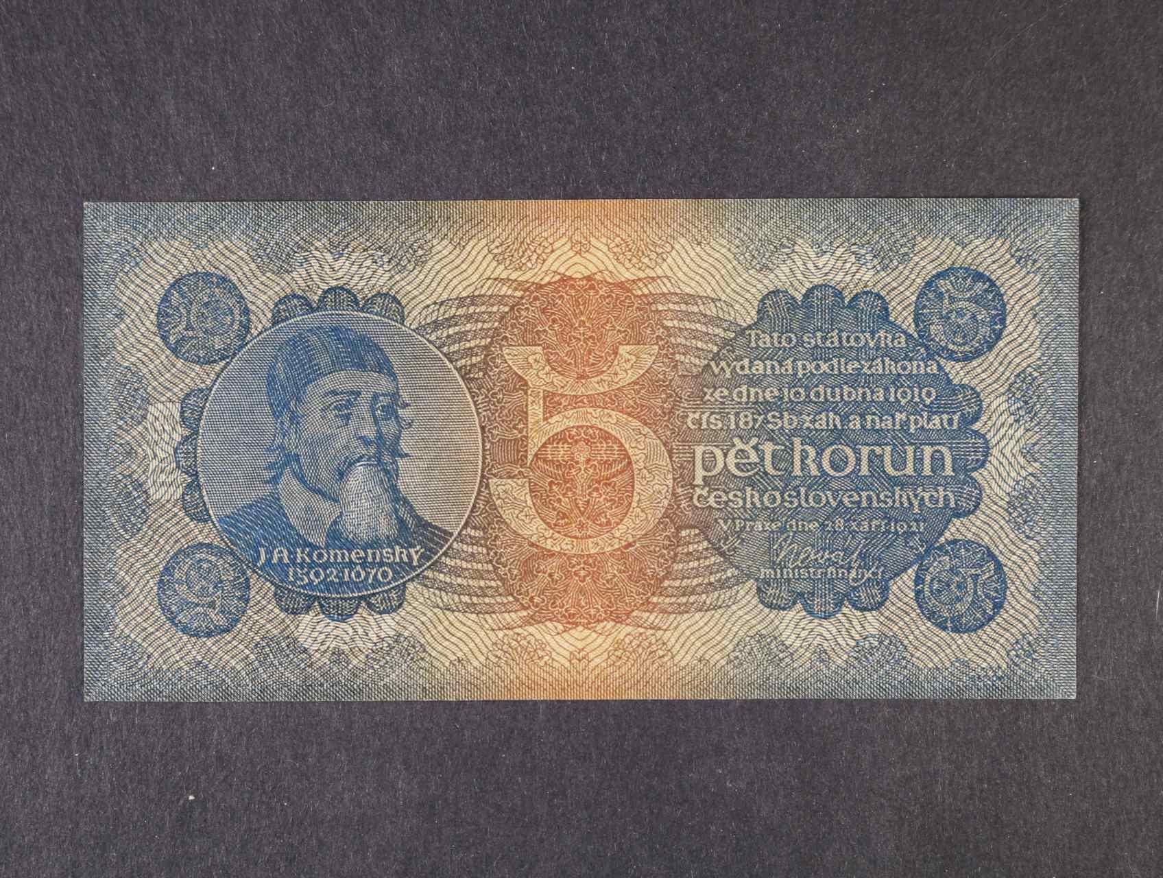5 Kč 28.9.1921 série 6, Ba. 18,  Pi. 15