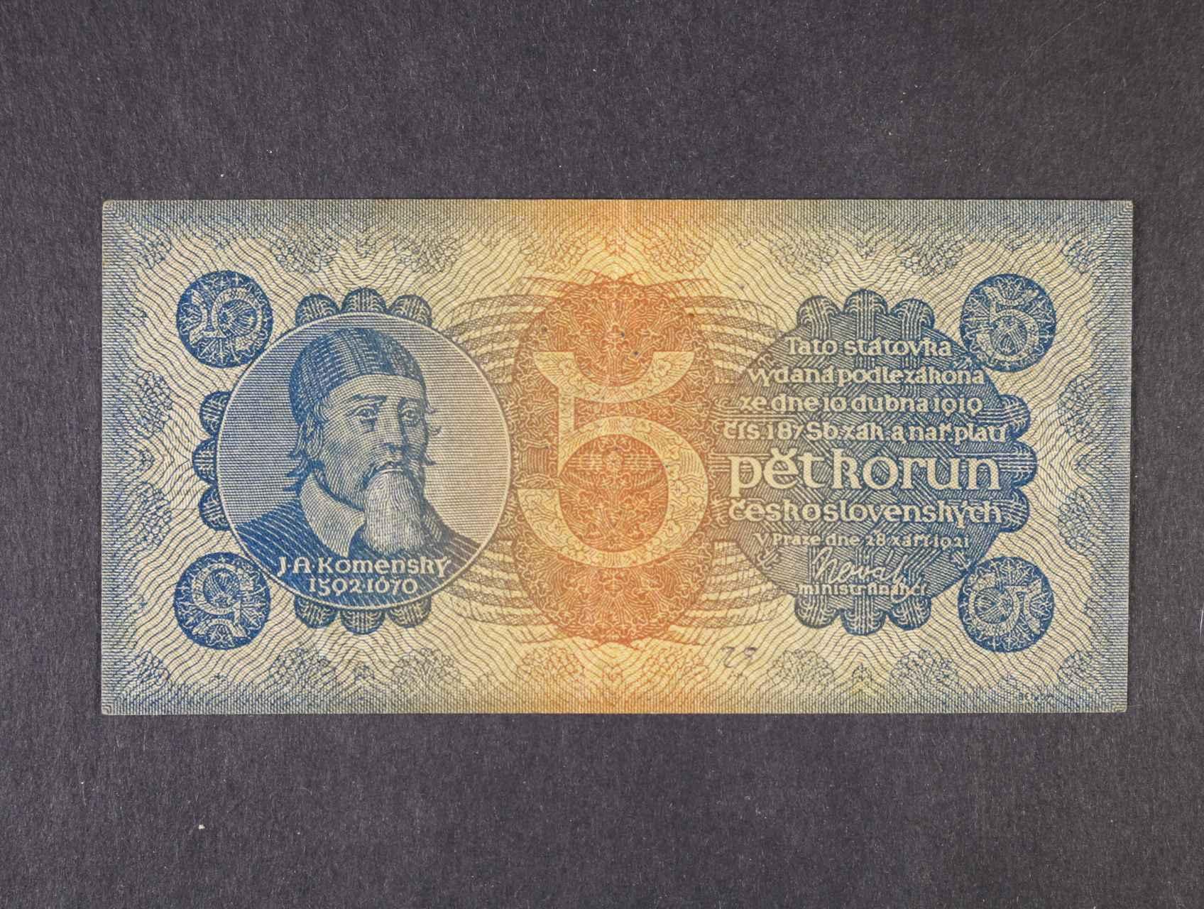 5 Kč 28.9.1921 série 3, Ba. 18,  Pi. 15