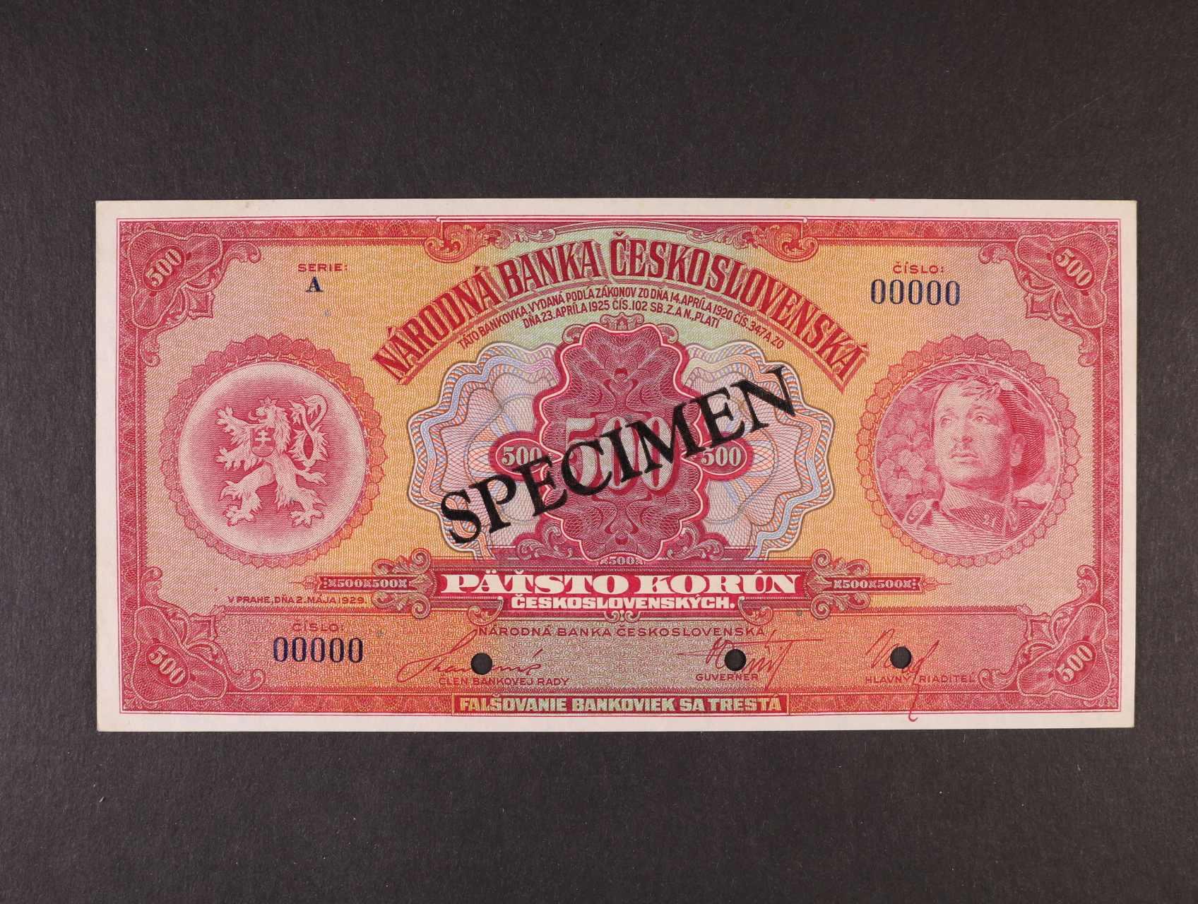 500 Kč 2.5.1929 série A var.