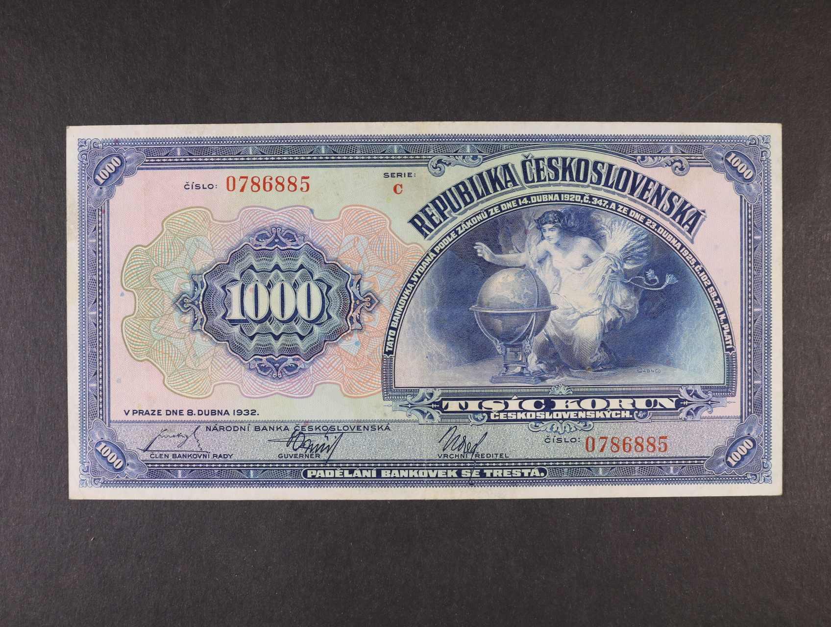 1000 Kč 8.4.1932 série C, Ba. 26, Pi. 25a