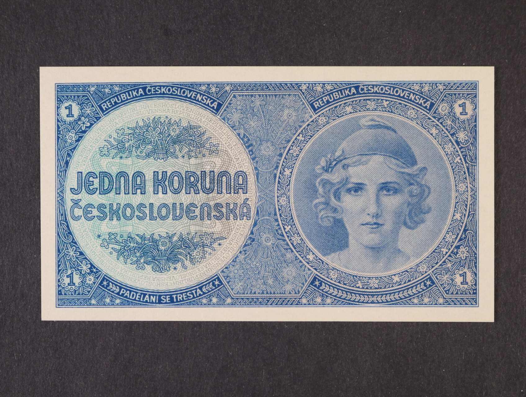 1 Kč 1938 série A 003 nevydaná, Ba. N1, Pi. 27