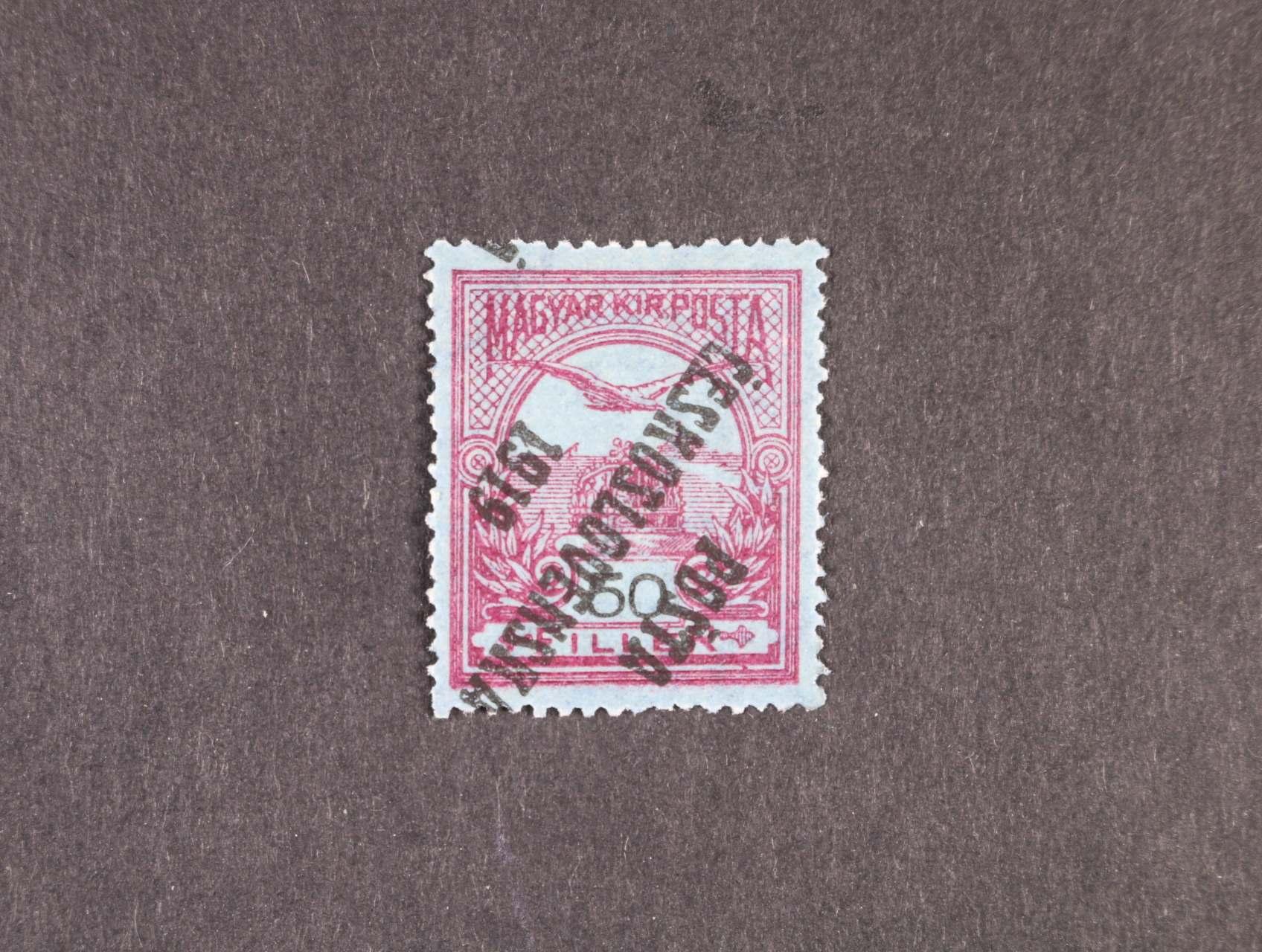 zn. č. 93 Pp převrácený přetisk II. typu, zk. Gilbert, kat. cena 15000 Kč