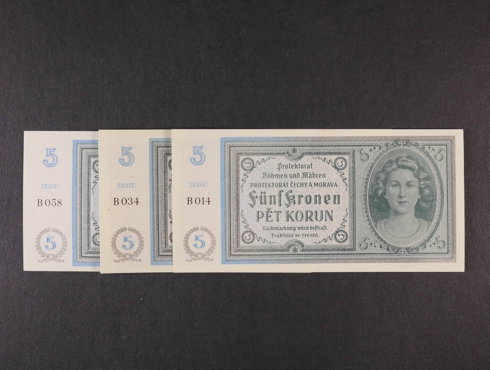 5 K 1940 série B 014, 034, 058, Ba. 31, 3ks