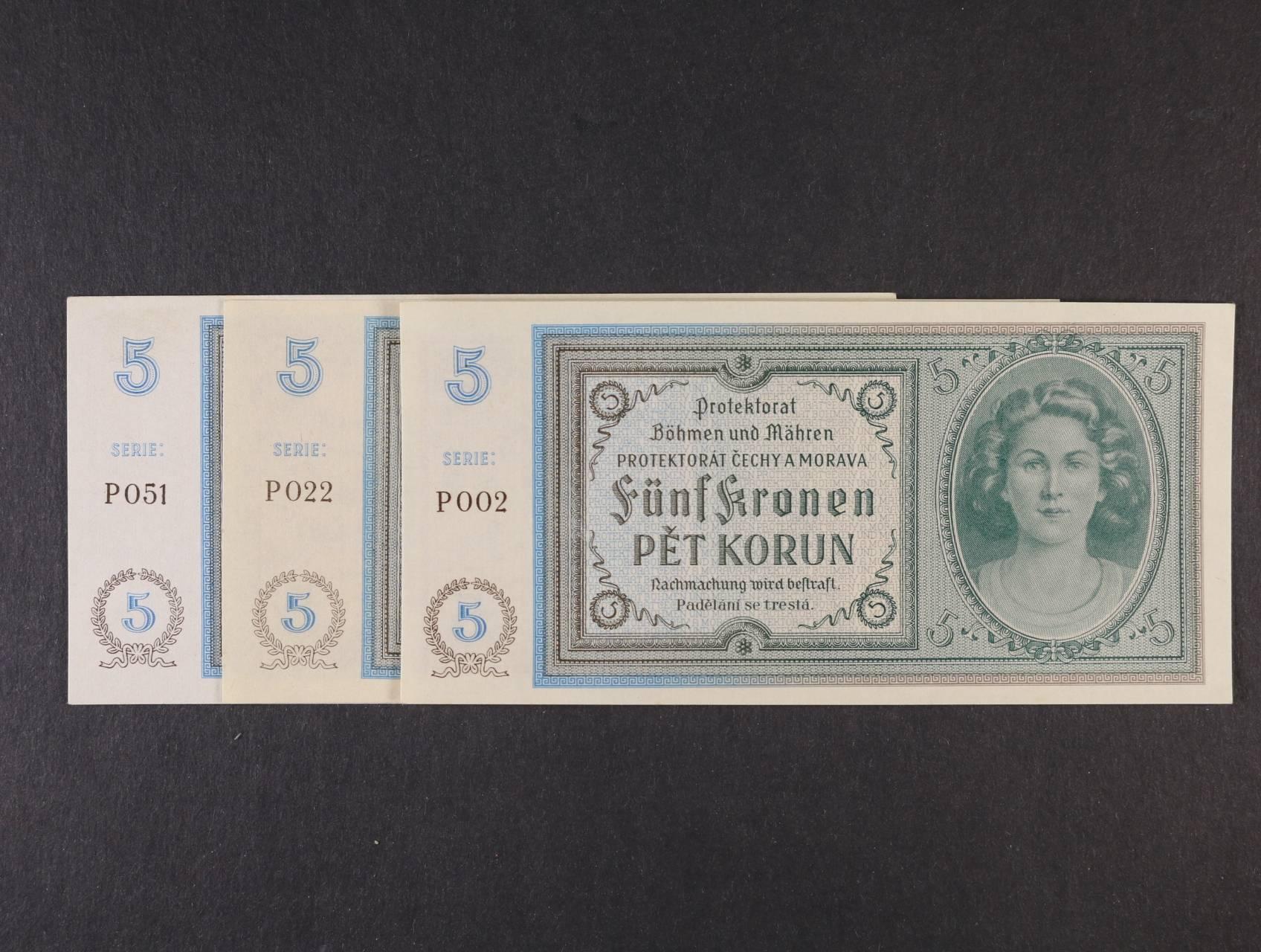 5 K 1940 série P 002 022, 051, Ba. 31, 3ks