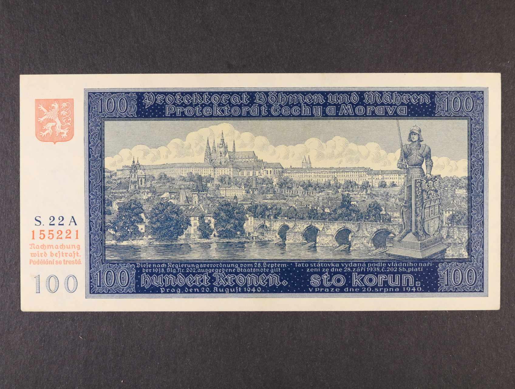 100 K 20.8.1940 I.vydání série 22 A, Ba. 32, Pi. 6