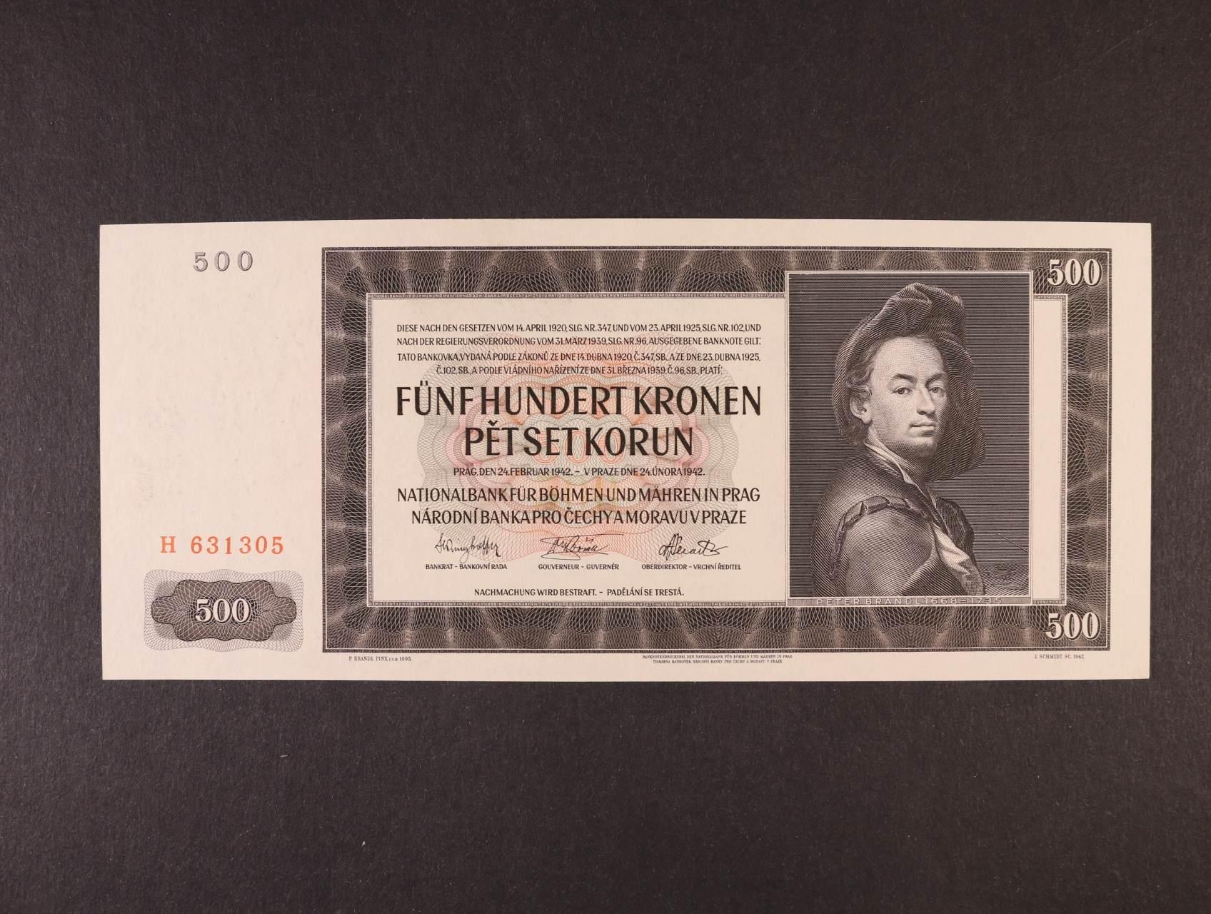 500 K 24.2.1942 I.vydání série H, Ba. 35, Pi. 11a