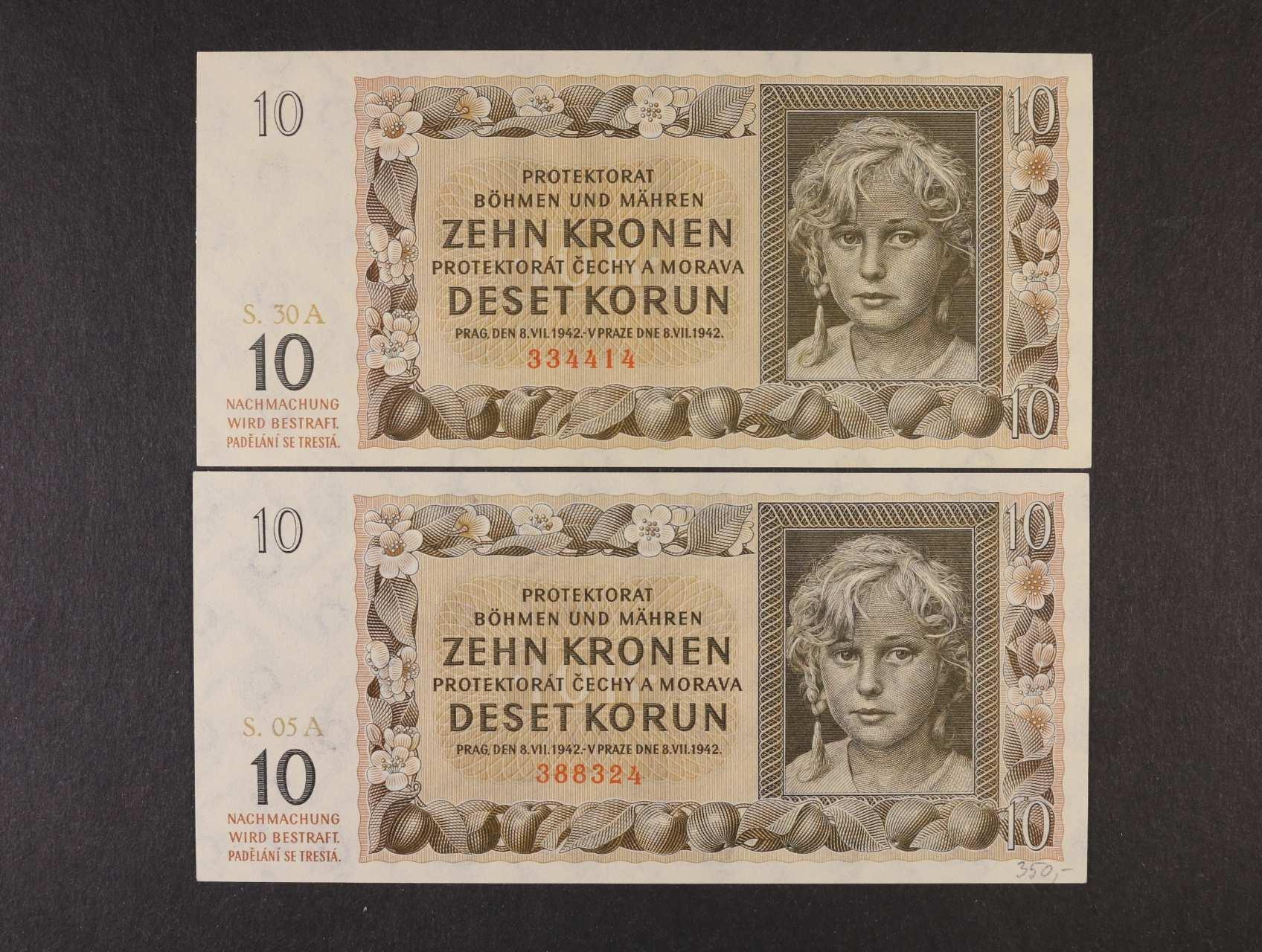 10 K 1942 série 05 A, 30 A, Ba. 37a, Pi. 8a, 2ks