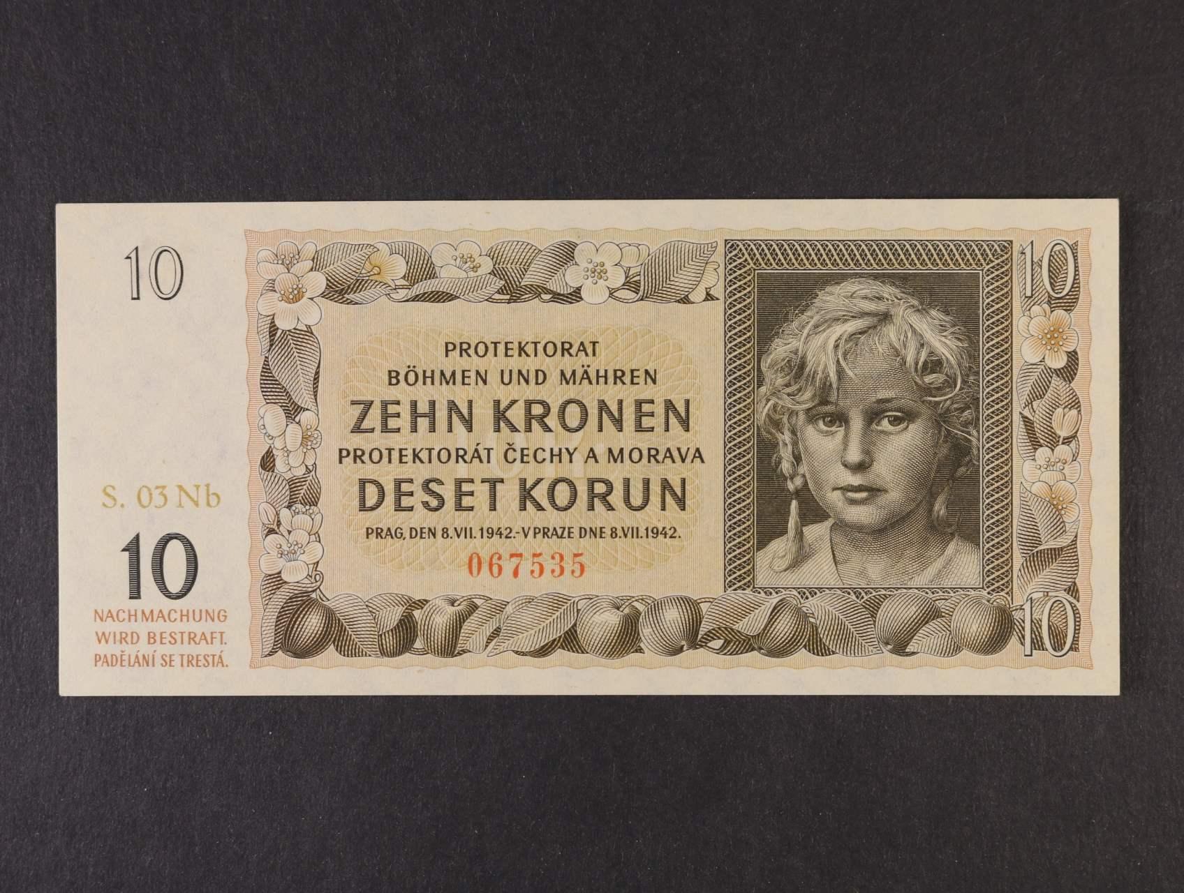 10 K 1942 série 03 Nb, Ba. 37c, Pi. 8