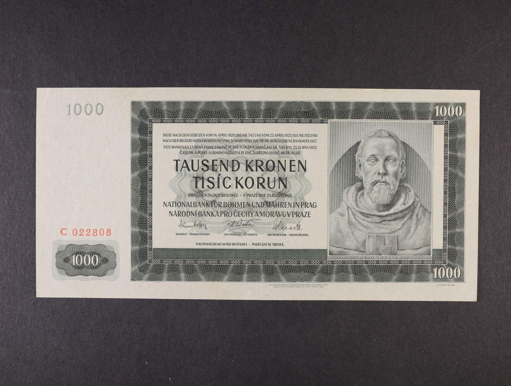 1000 K 24.10.1942 I.vydání série C, Ba. 38, Pi. 13a