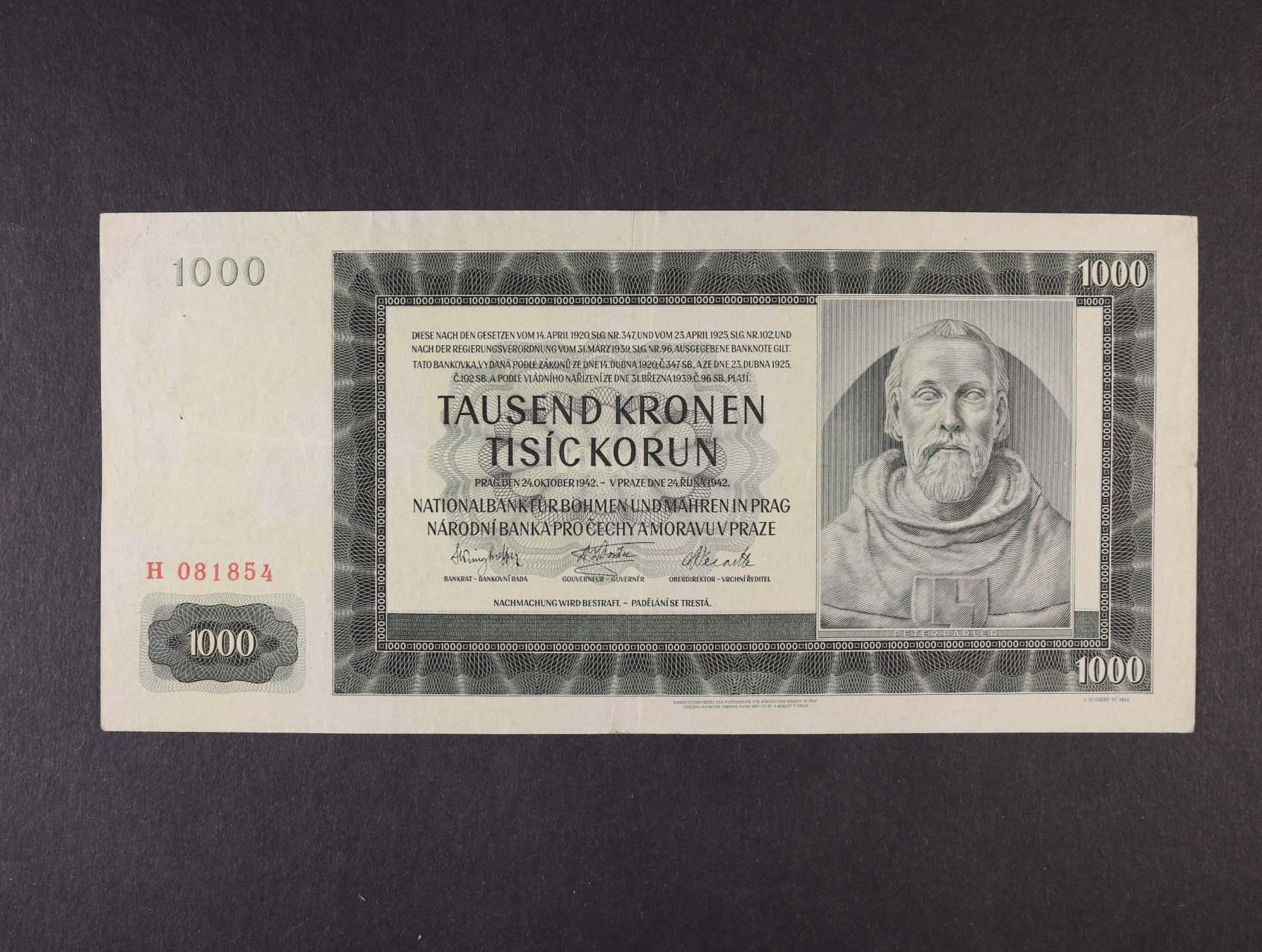 1000 K 24.10.1942 I.vydání série H, Ba. 38, Pi. 13a