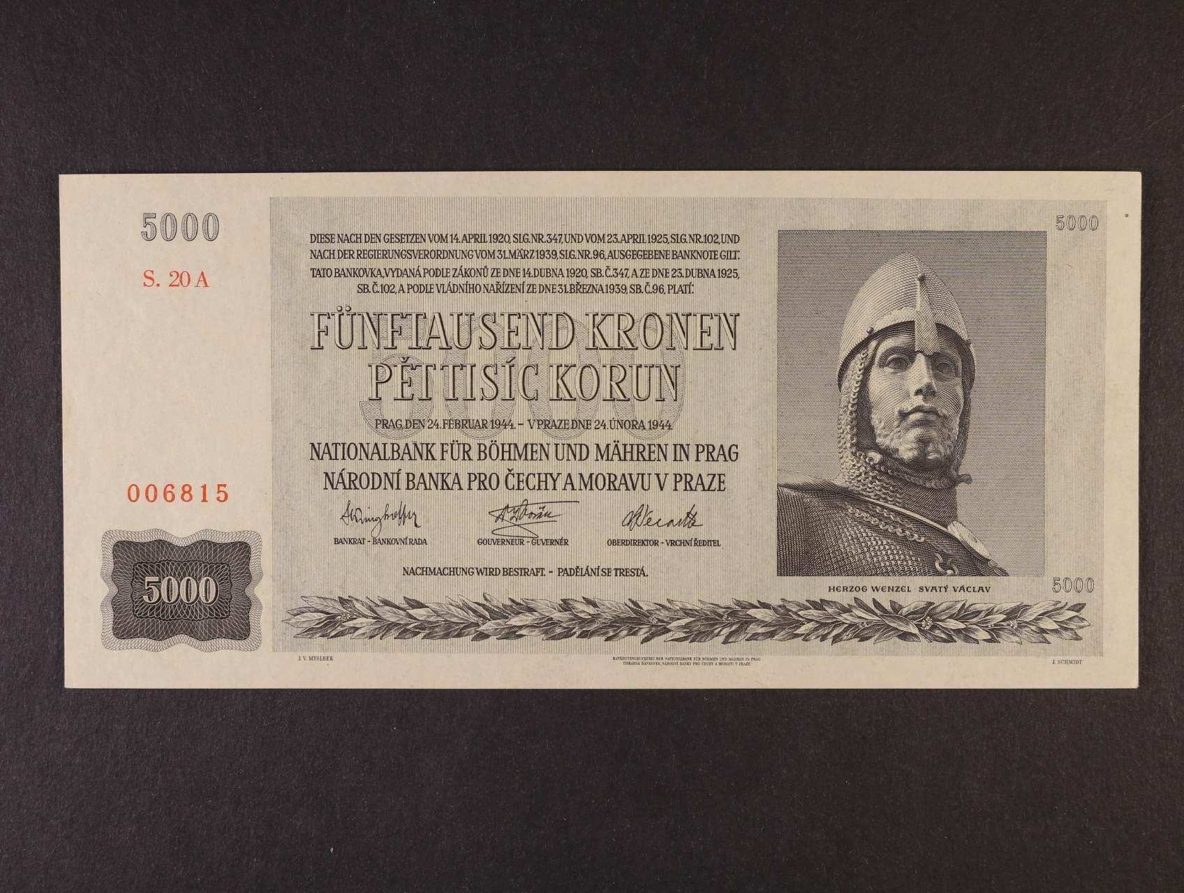 5000 K 24.2.1944 série 20 A, Ba. 41, Pi. 17
