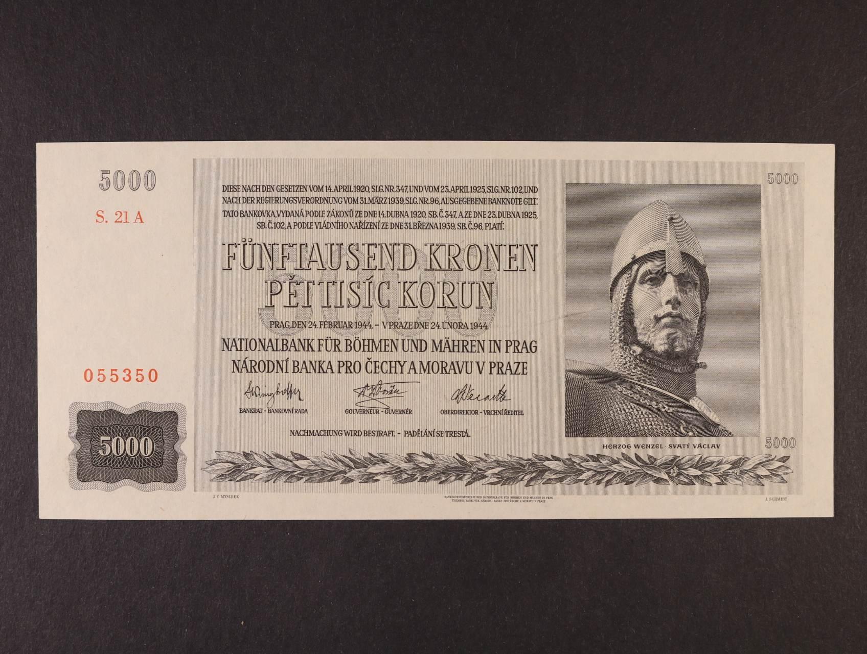 5000 K 24.2.1944 série 21 A, Ba. 41, Pi. 17