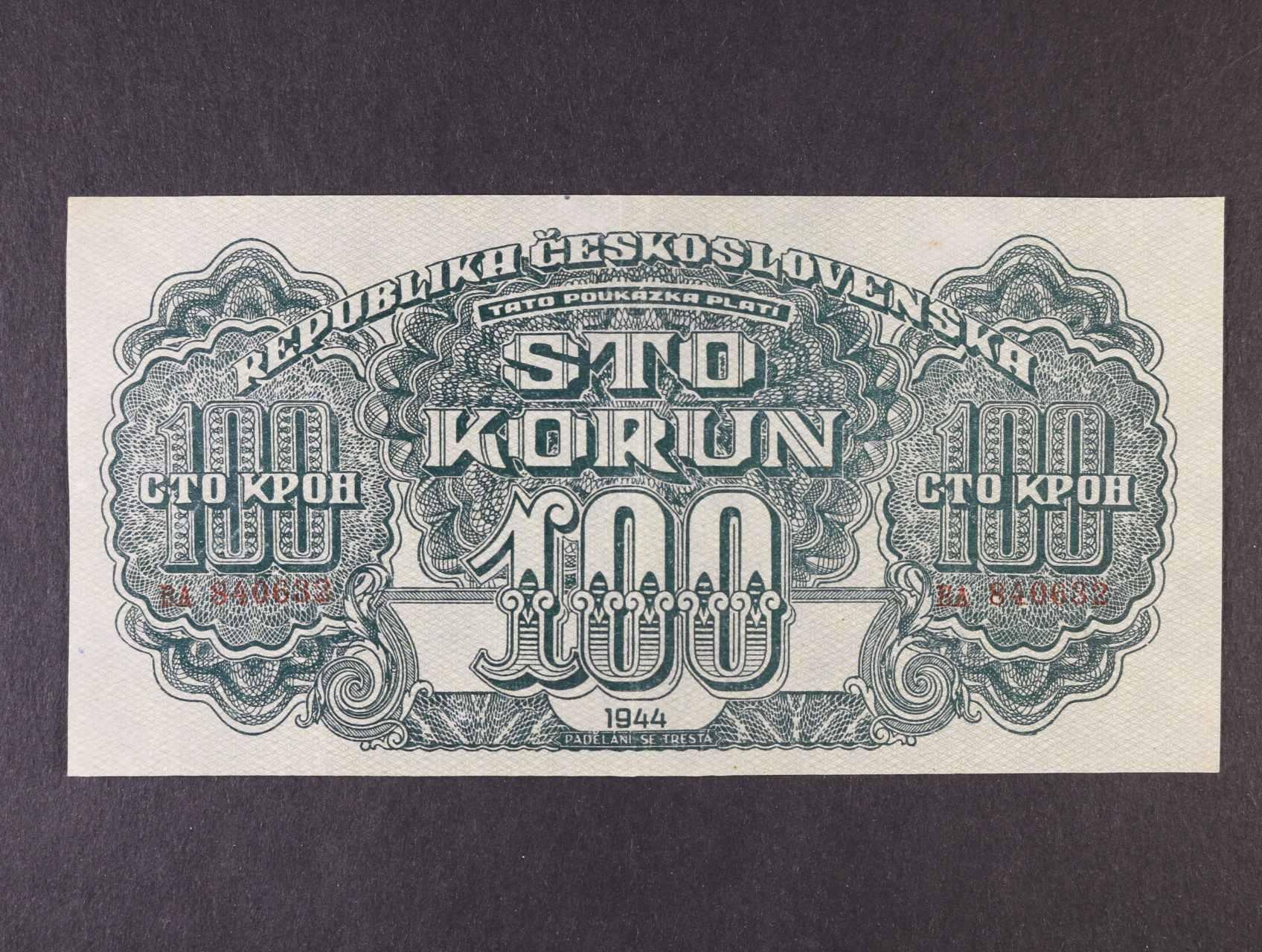 100 K 1944 série BA, číslovač 6b, Ba. 59a1, Pi. 48a