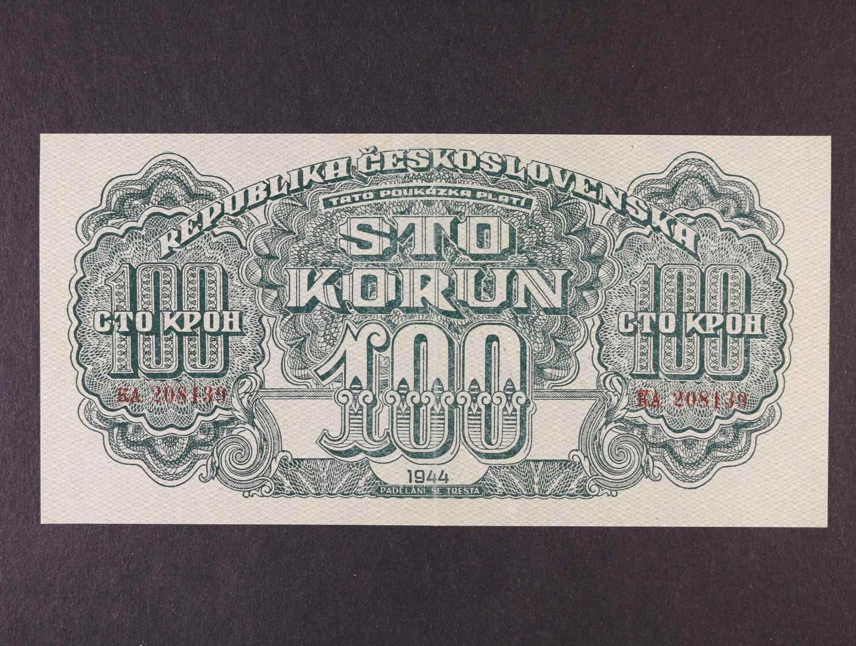 100 K 1944 série KA, číslovač 8., Ba. 59b, Pi. 48a