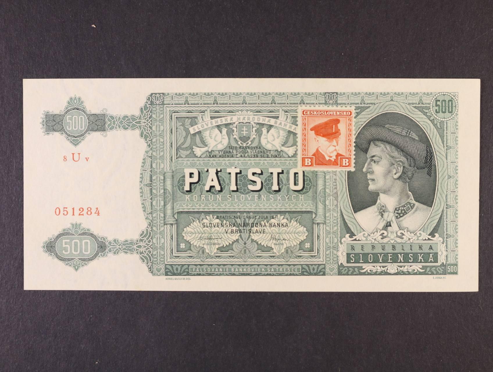 500 Ks 12.7.1941 kolkovaná série 8Uv, Ba. 64, Pi. 54a