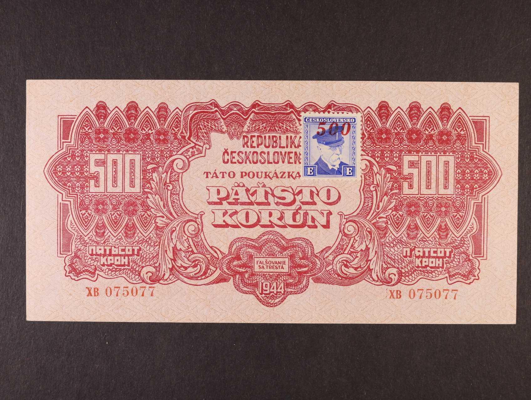 500 K 1944 série XB kolkovaná, Ba. 67, Pi. 55a
