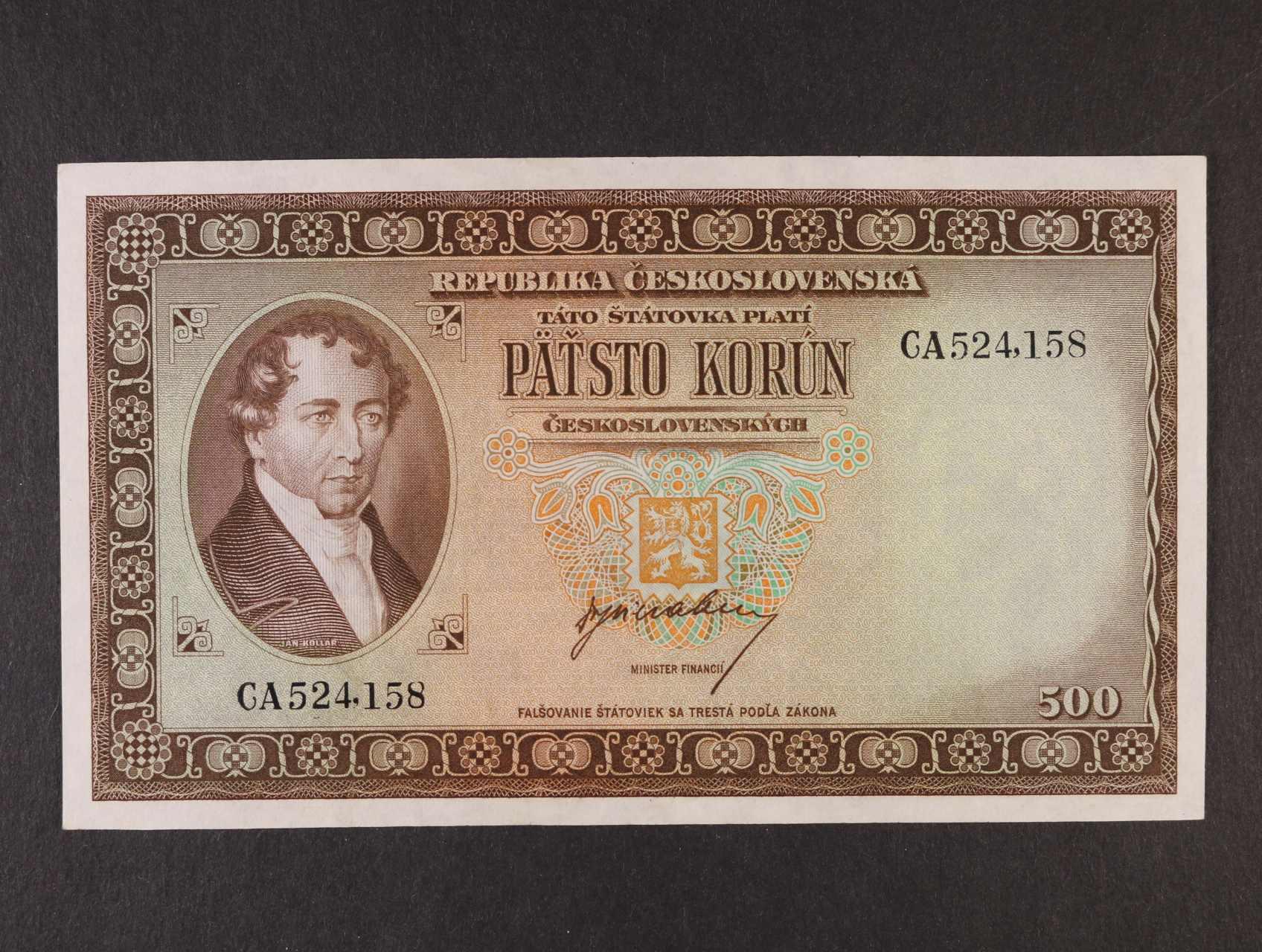 500 Kčs 1945 série CA, Ba. 75, Pi. 64a