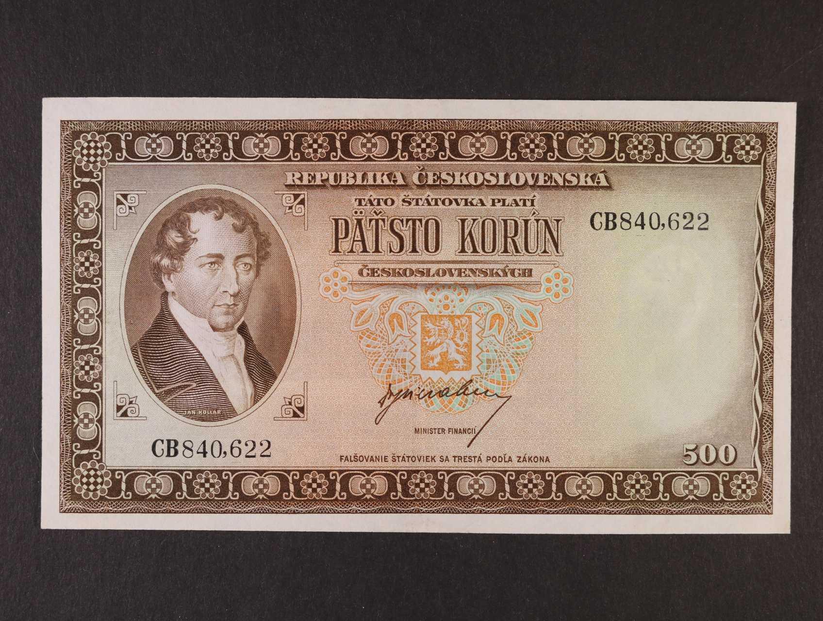 500 Kčs 1945 série CB, Ba. 75, Pi. 64a