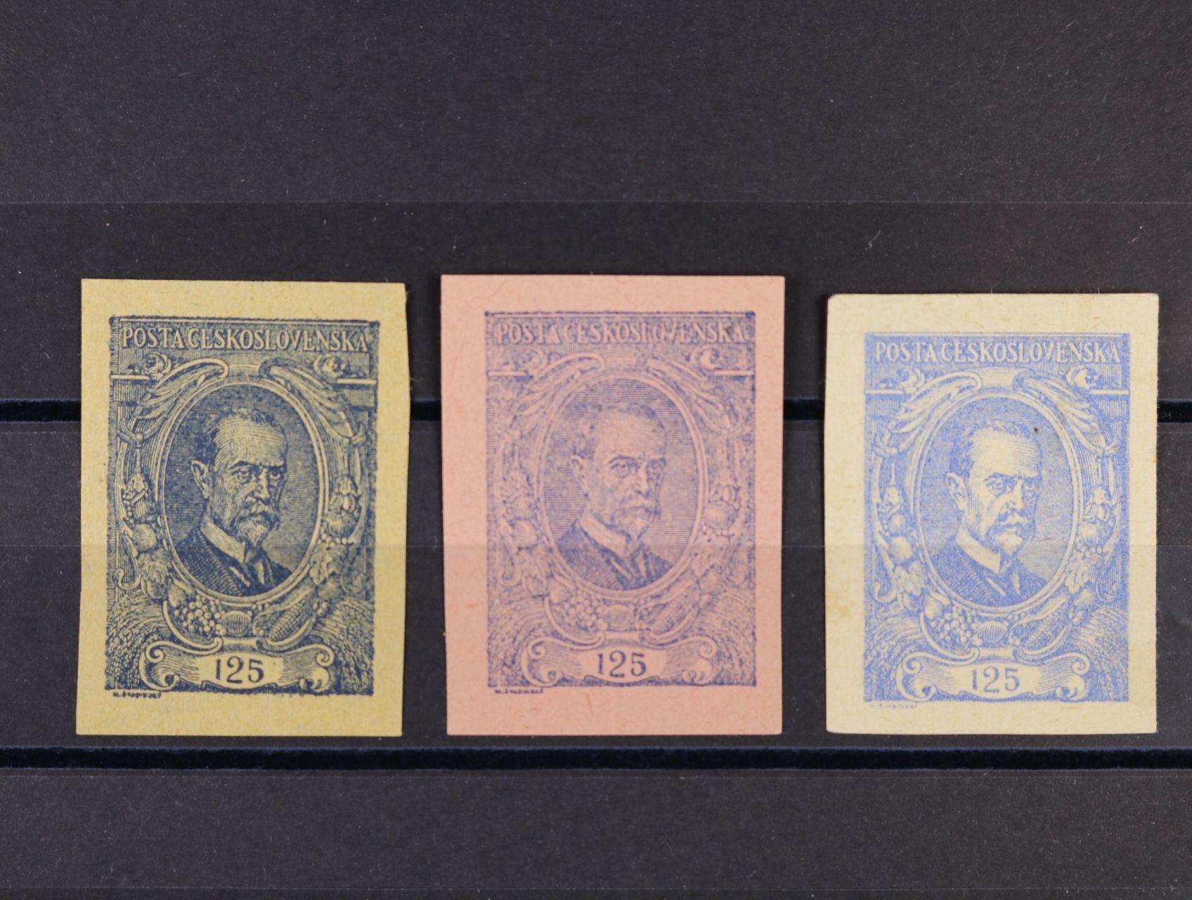 ZT 125h v barvě modré na papíře žlutém, růžovém a bílém