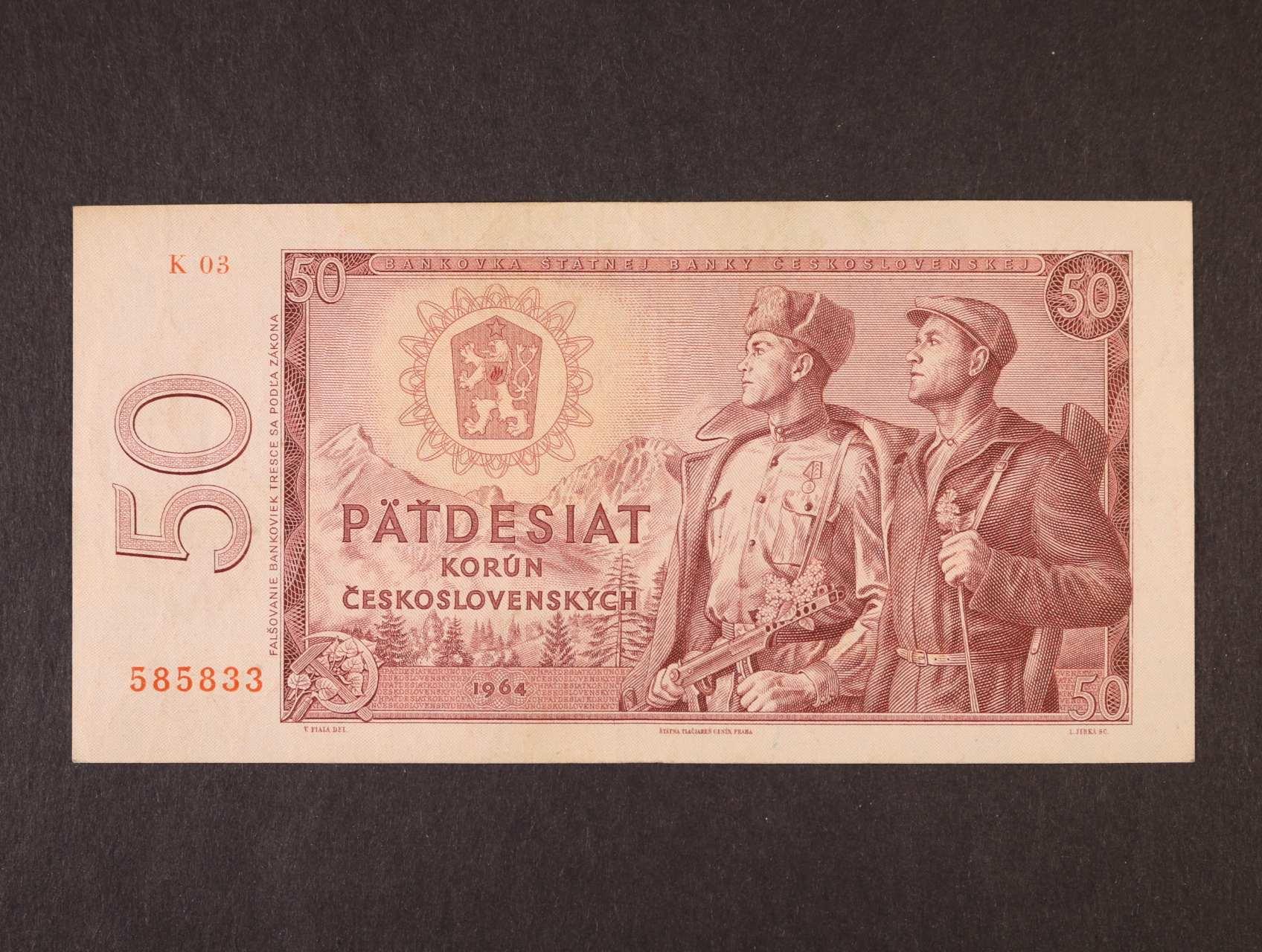 50 Kčs 1964 série K 03, Ba. 99a, Pi. 90a