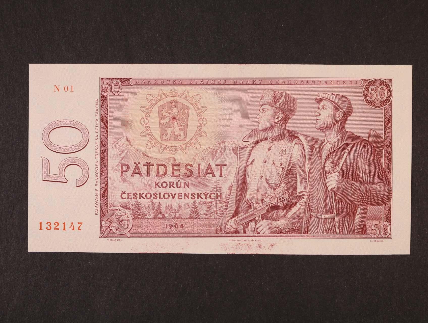 50 Kčs 1964 série N 01, Ba, 99b2, Pi. 90a