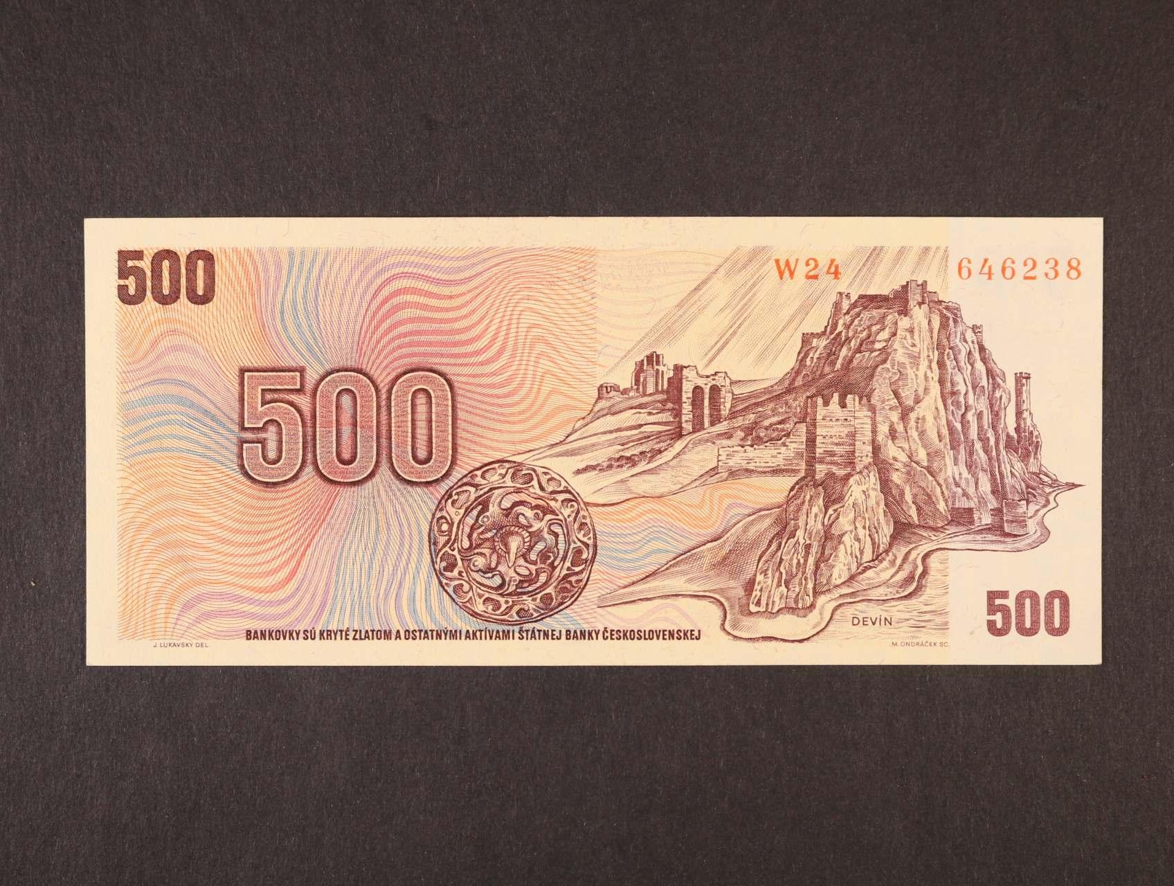 500 Kčs 1973 série W 24, Ba. 101, Pi. 93