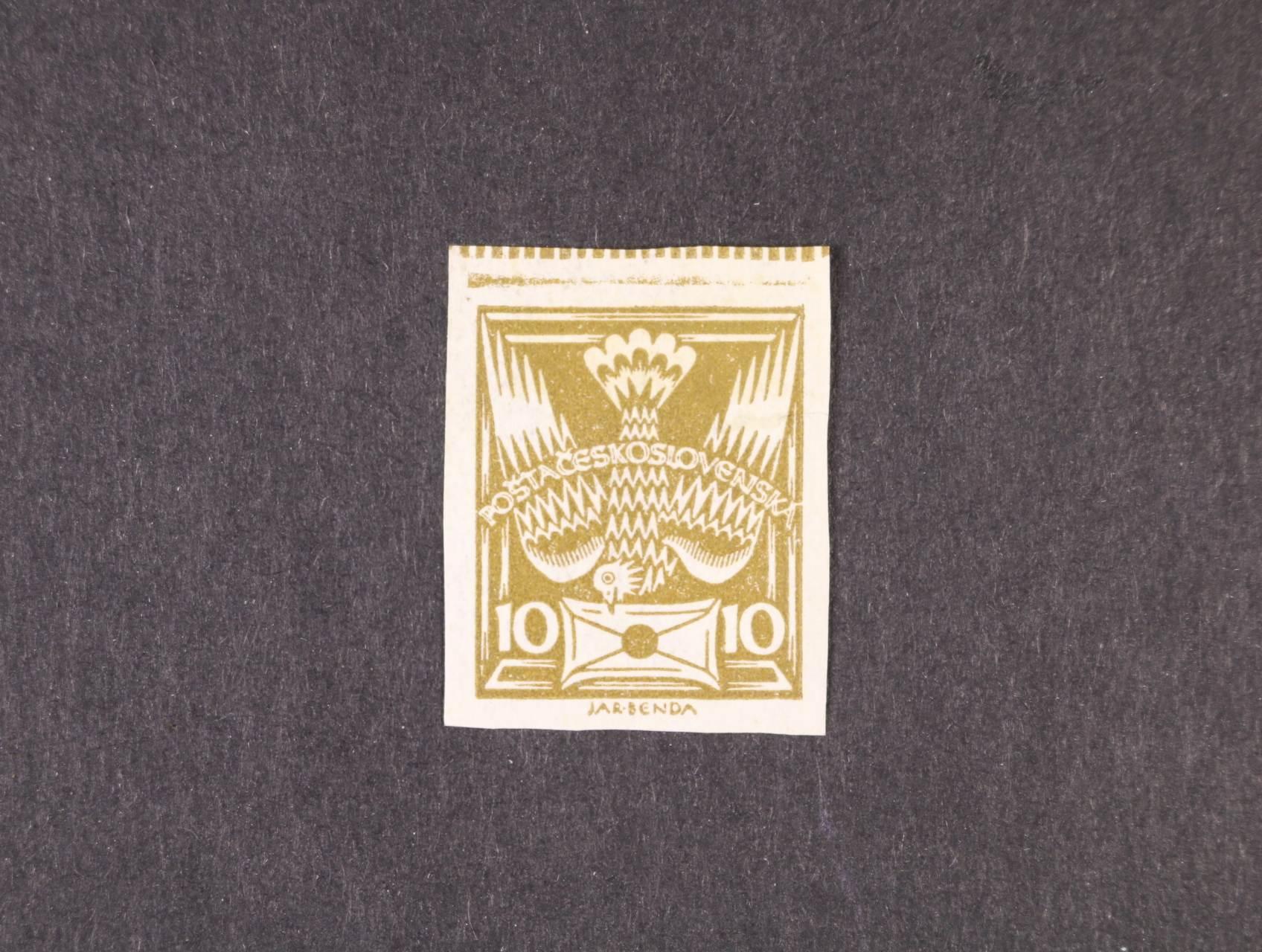 zn. č. 146 N, na horním okraji s bordurou