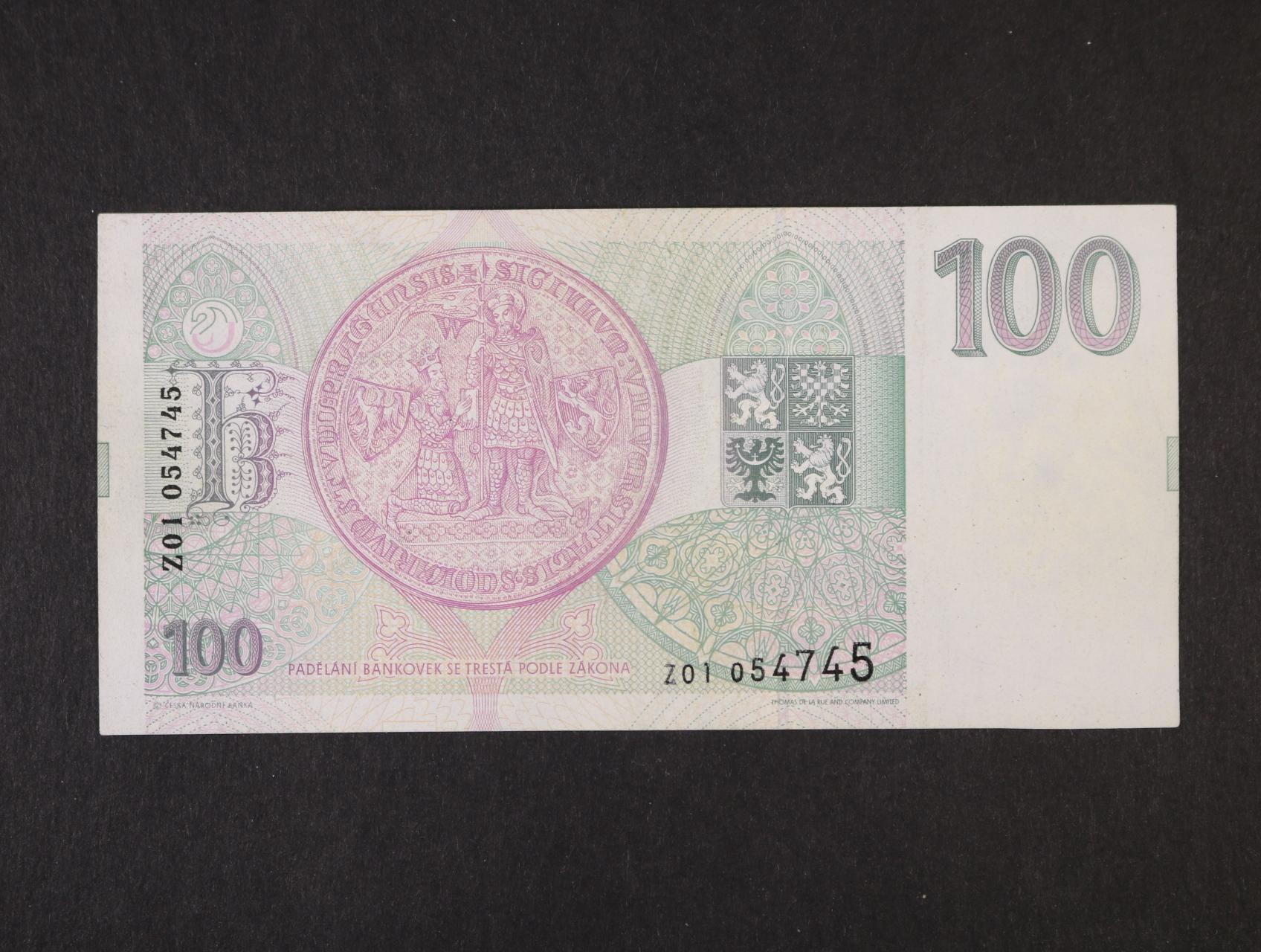 100 Kč 1993 série Z 01, Ba. CZ 5b
