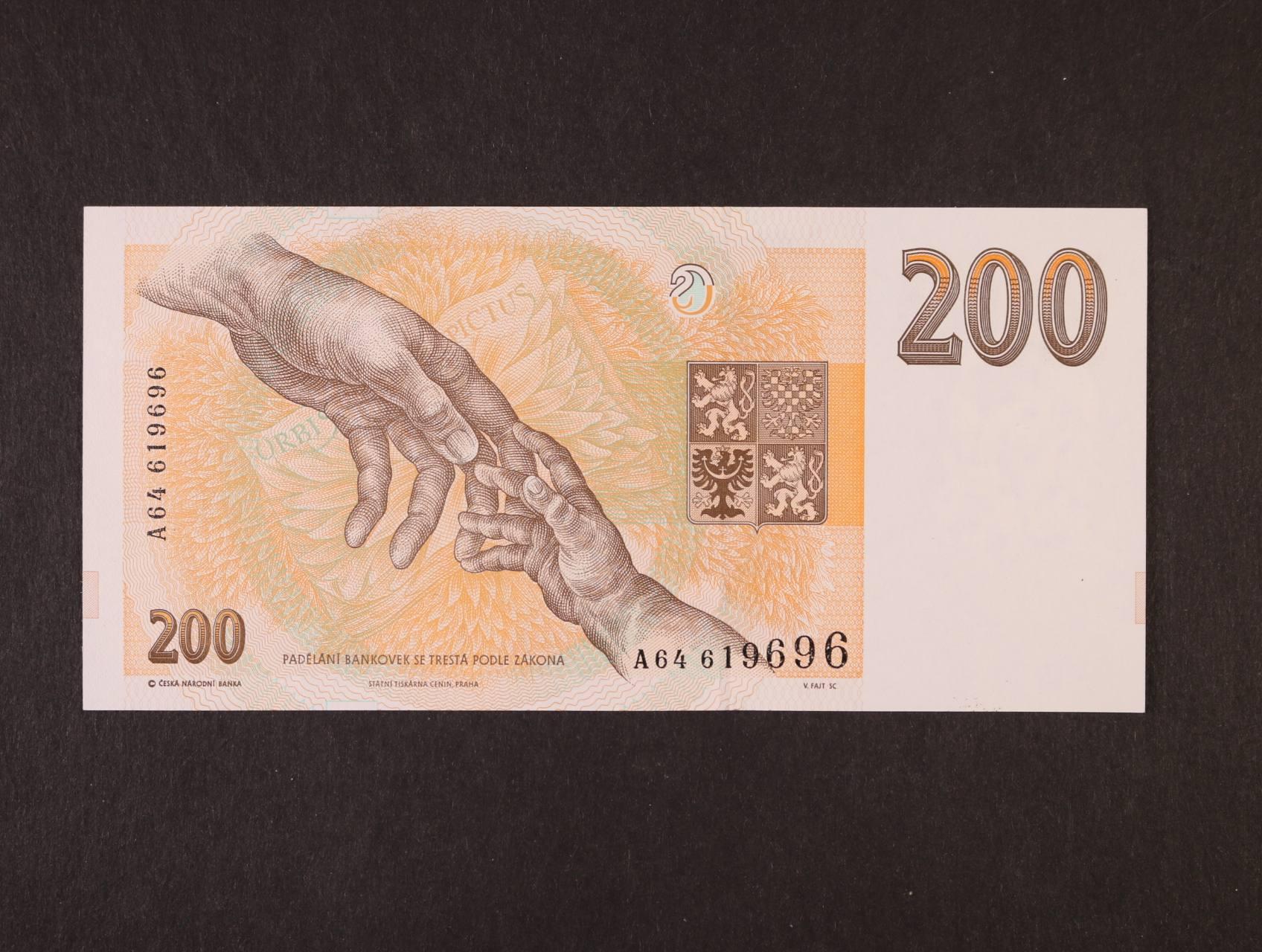 200 Kč 1993 série A 64, proužek